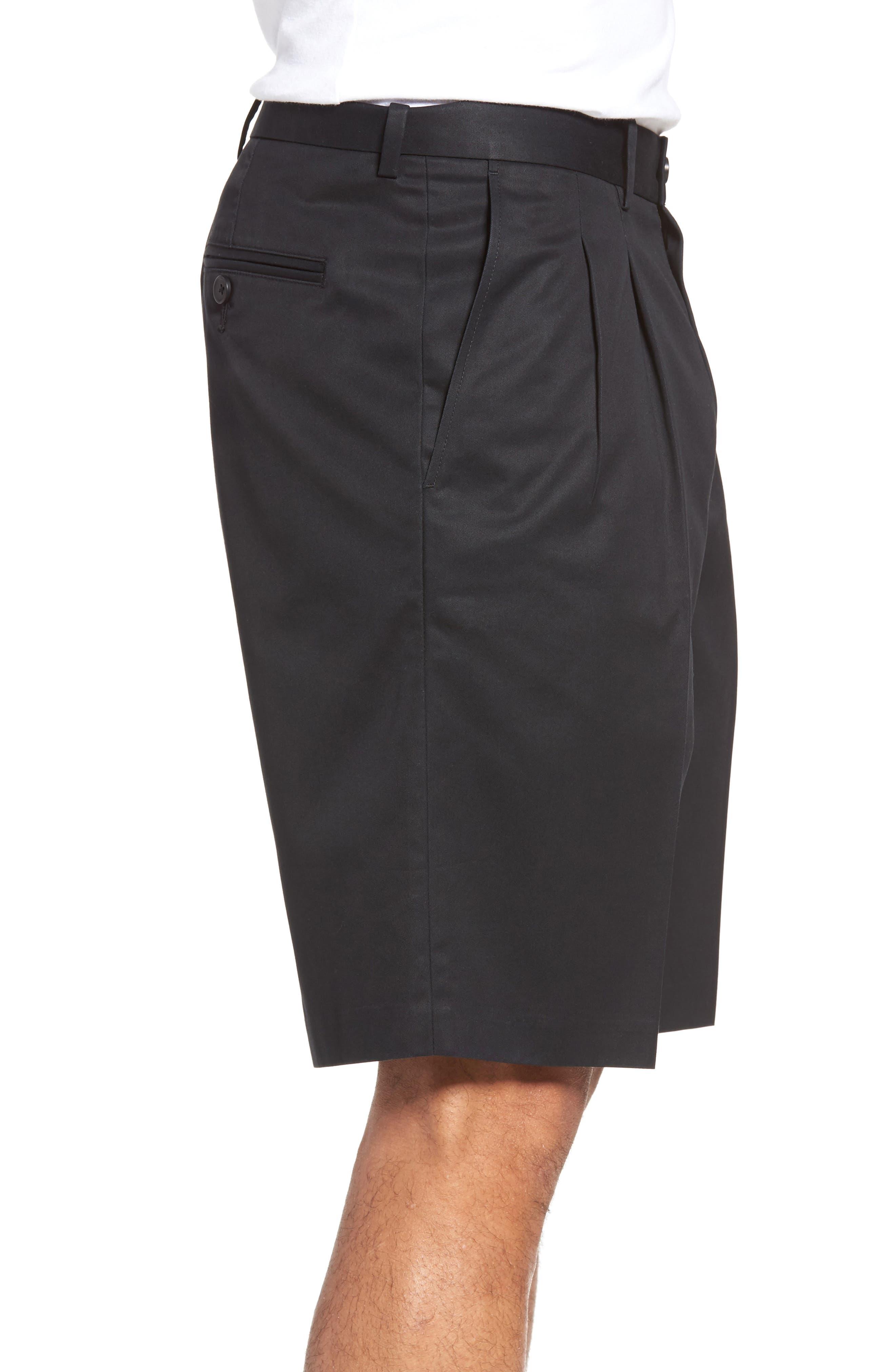 Pleated Supima<sup>®</sup> Cotton Shorts,                             Alternate thumbnail 11, color,