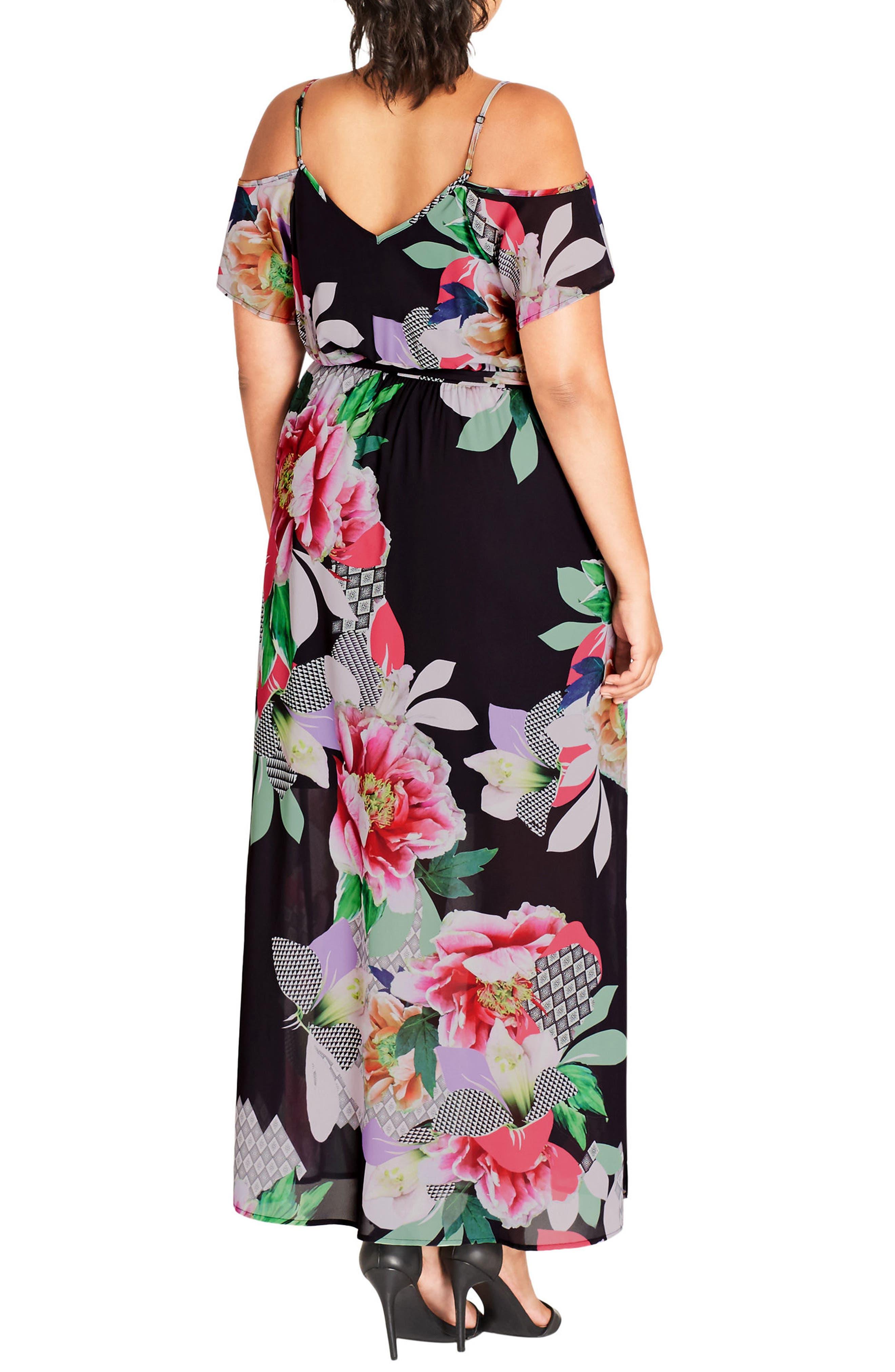 Romantic Pop Maxi Dress,                             Alternate thumbnail 2, color,                             650
