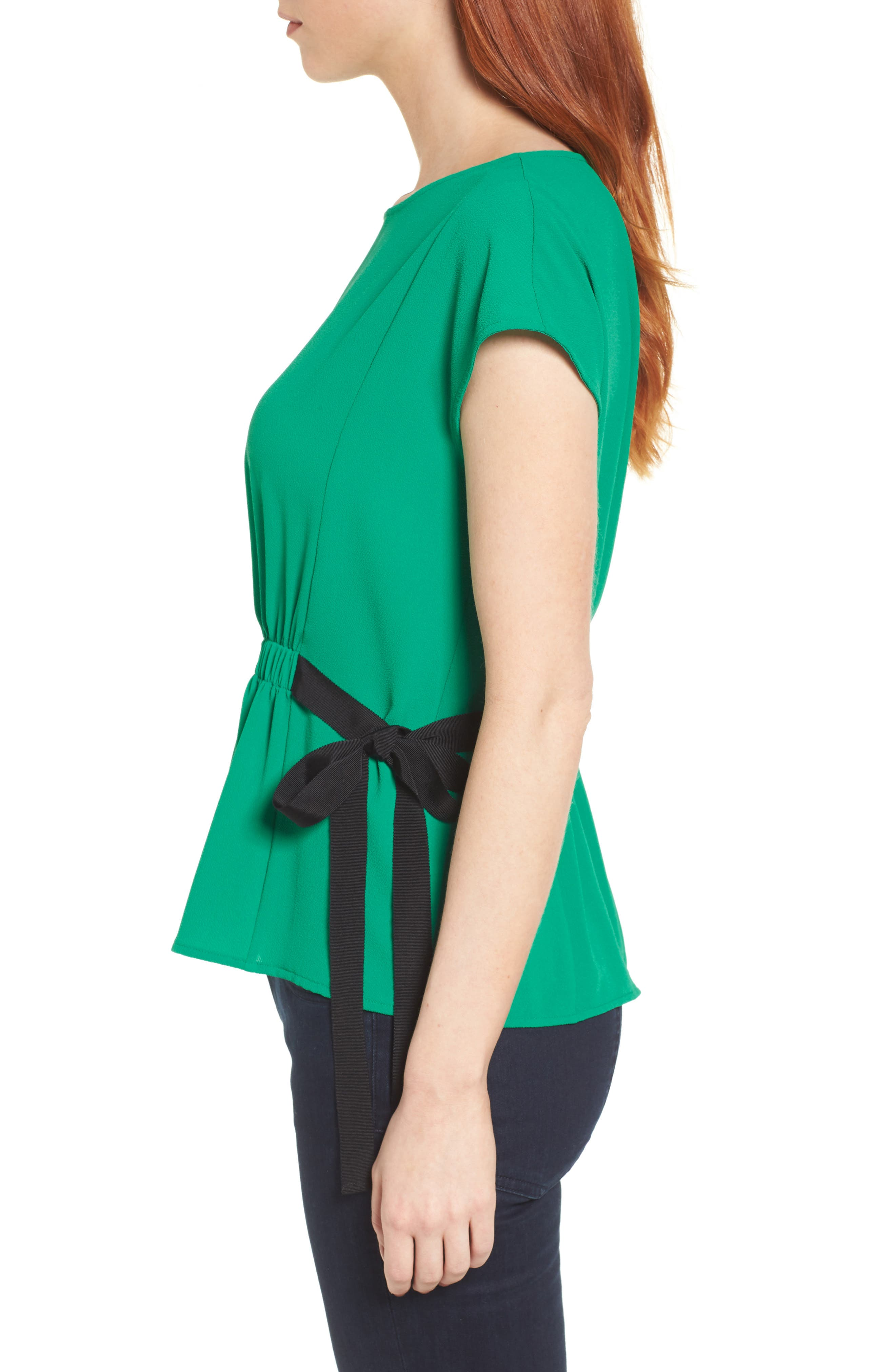 Gathered Waist Side Tie Top,                             Alternate thumbnail 14, color,