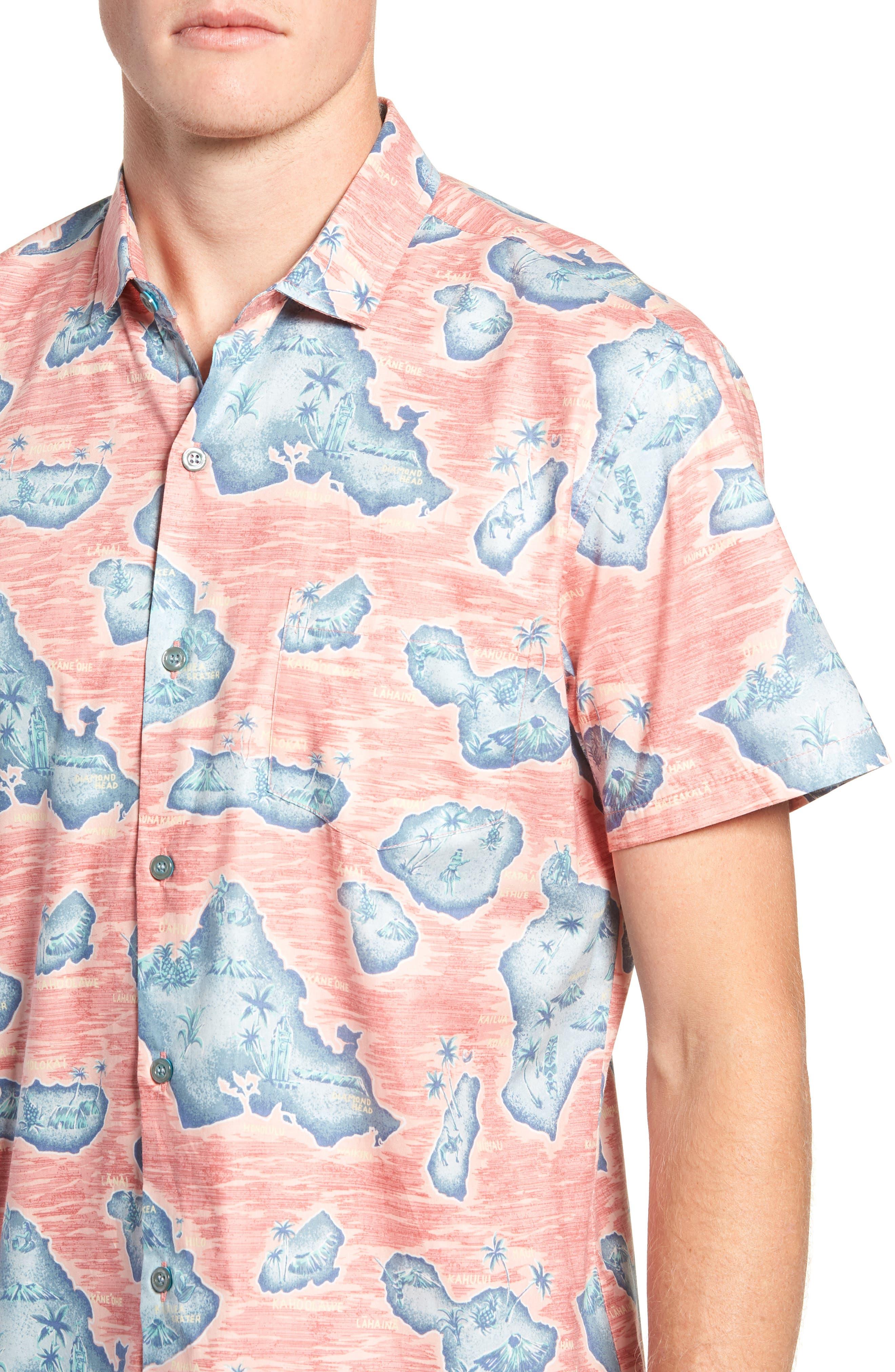 Sandwich Isle Regular Fit Sport Shirt,                             Alternate thumbnail 2, color,                             HAWAIIAN SALT