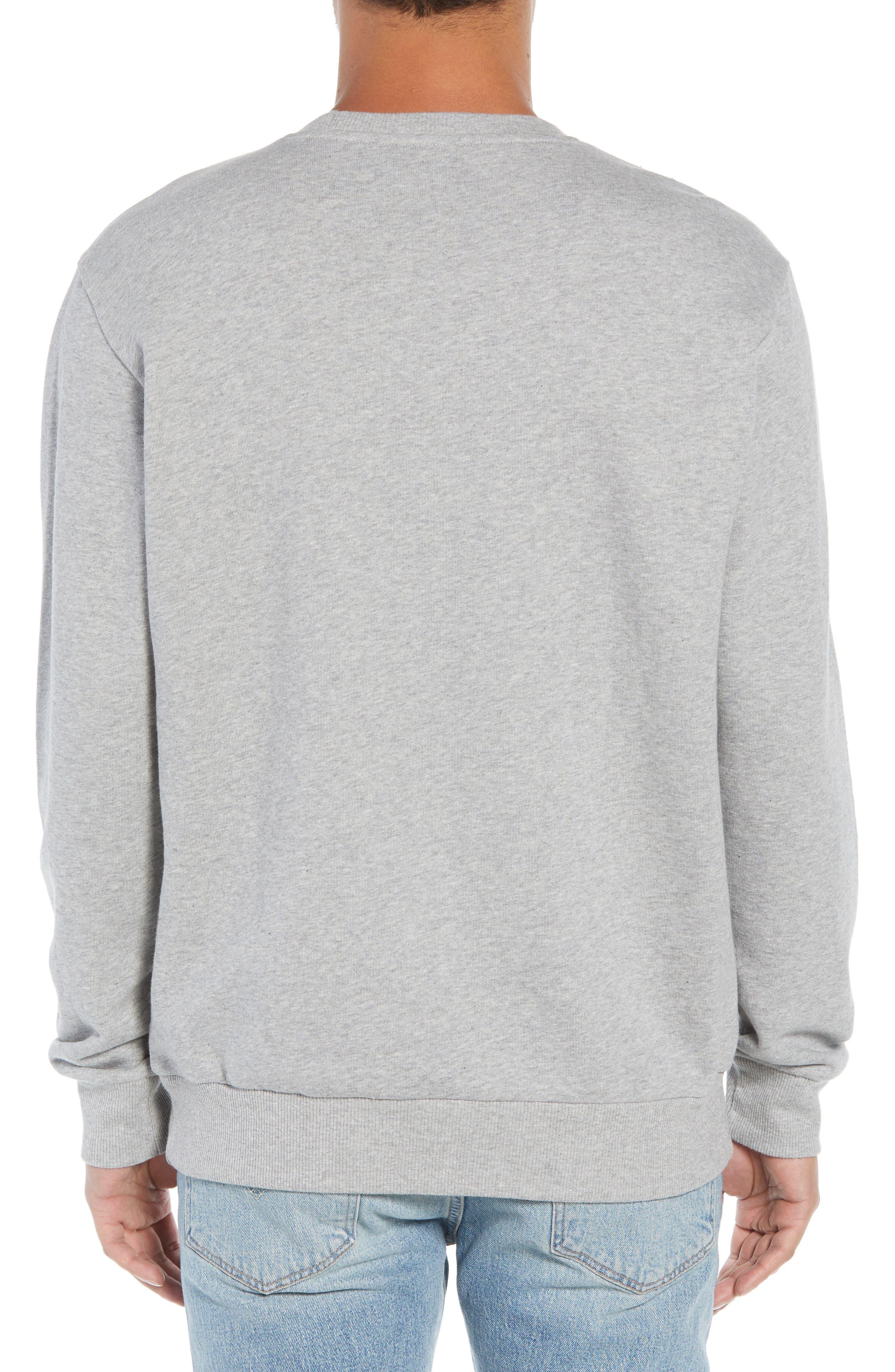 Classic Big Starcrest Logo Sweatshirt,                             Alternate thumbnail 2, color,                             MEDIUM GREY HEATHER