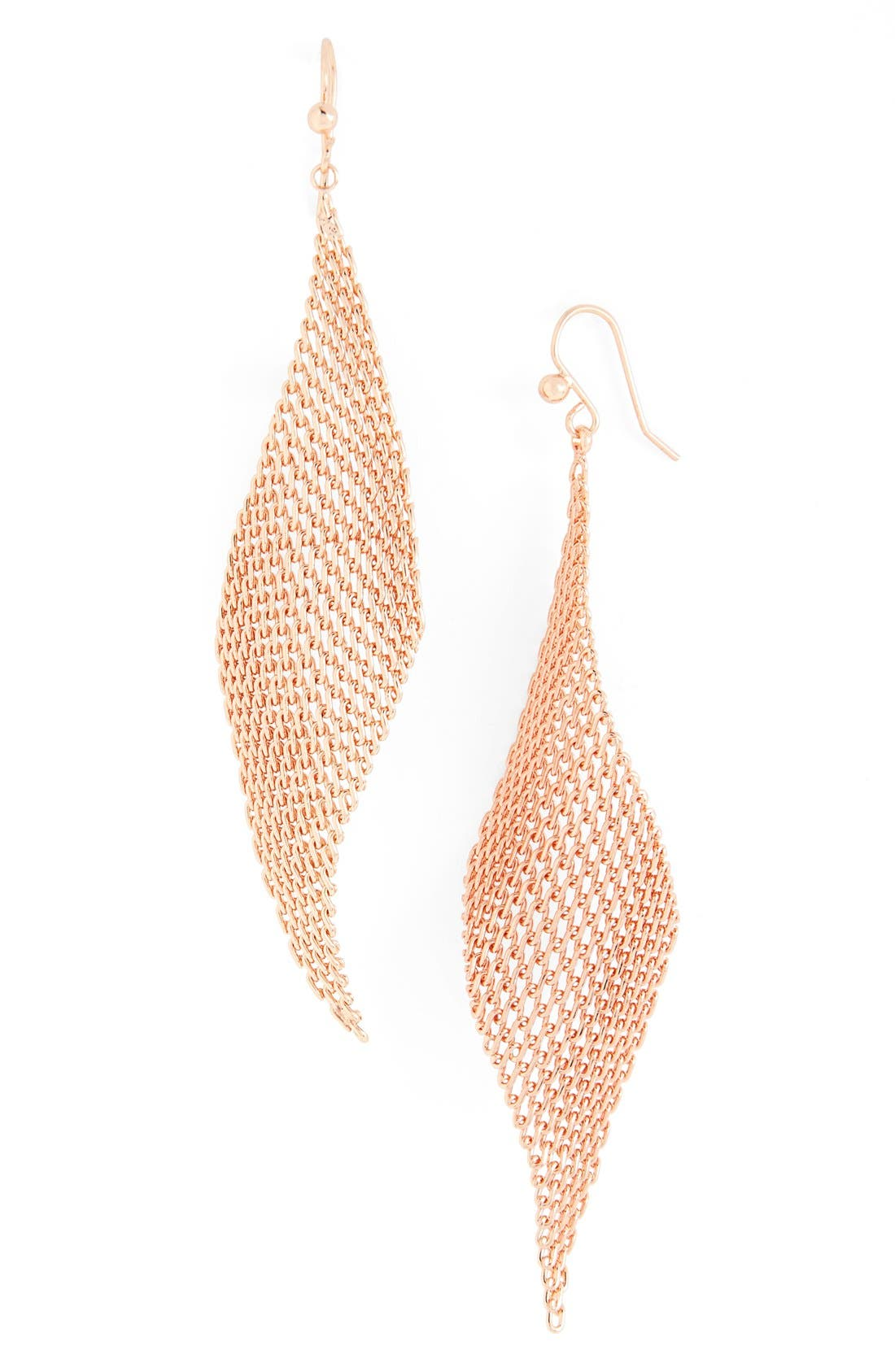 Mesh Fan Drop Earrings,                             Main thumbnail 1, color,                             220