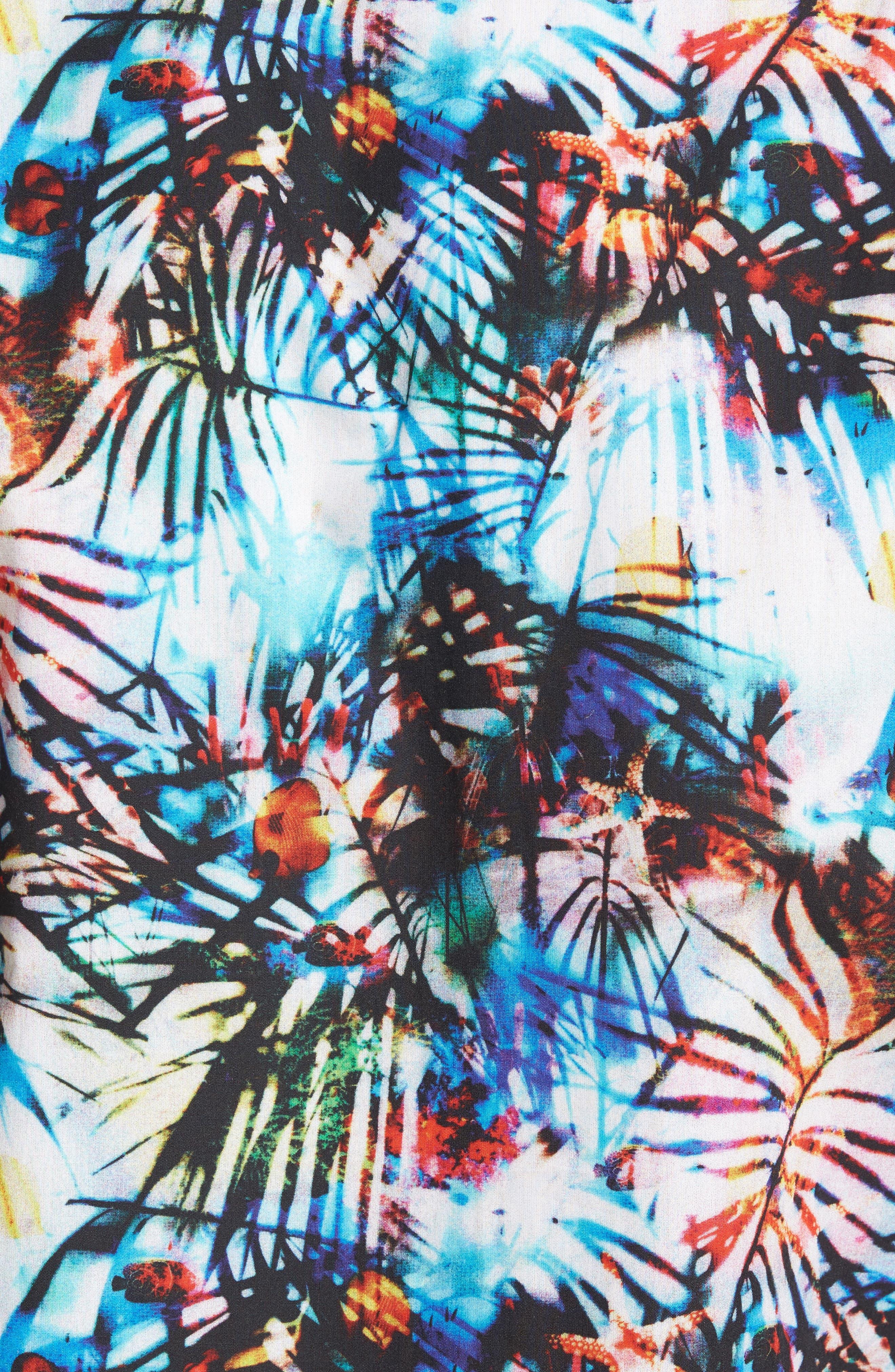 Trim Fit Print Sport Shirt,                             Alternate thumbnail 5, color,                             100