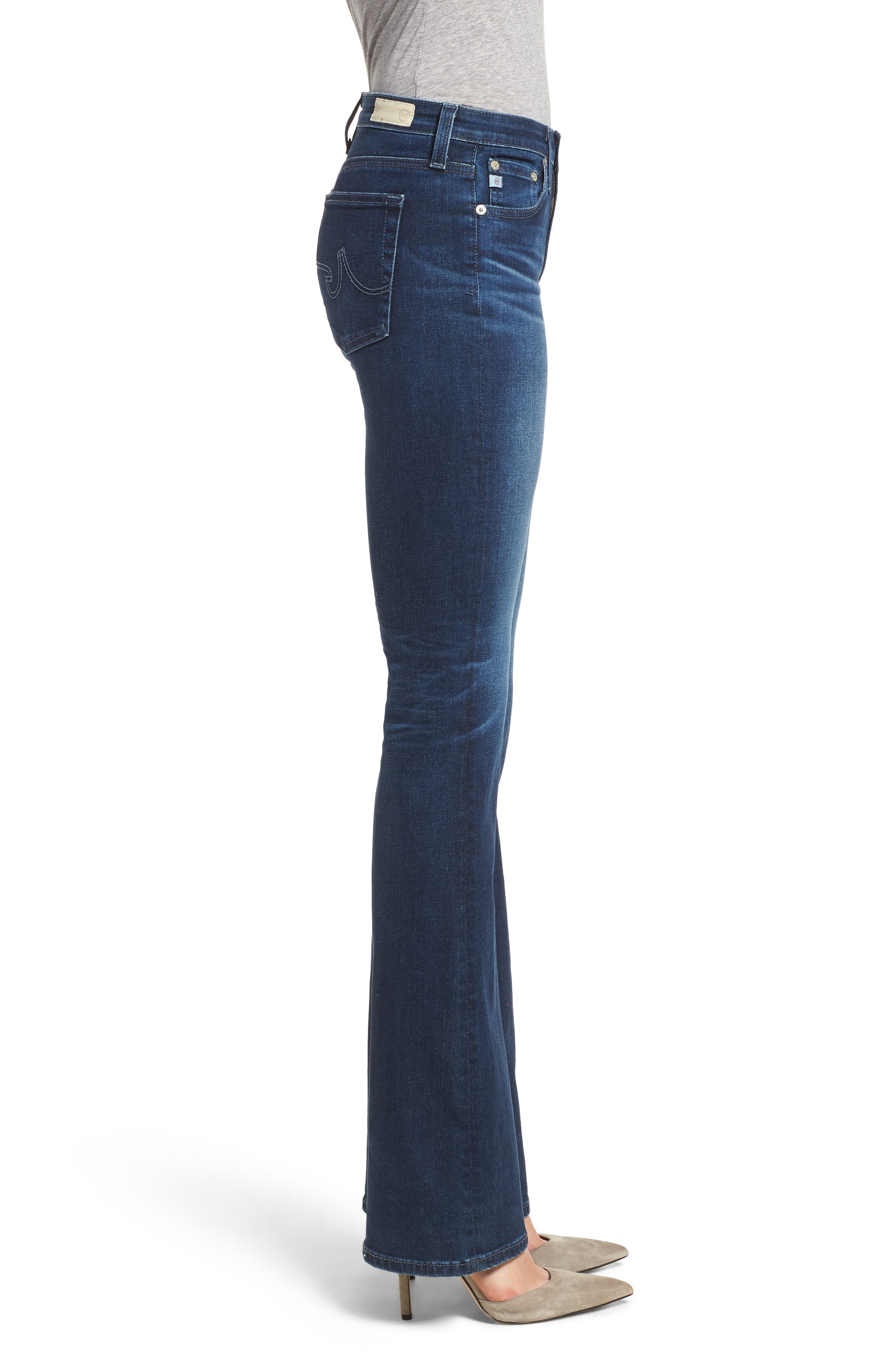 Angel Flare Jeans,                             Alternate thumbnail 3, color,                             04 YEARS DEEP WILLOWS