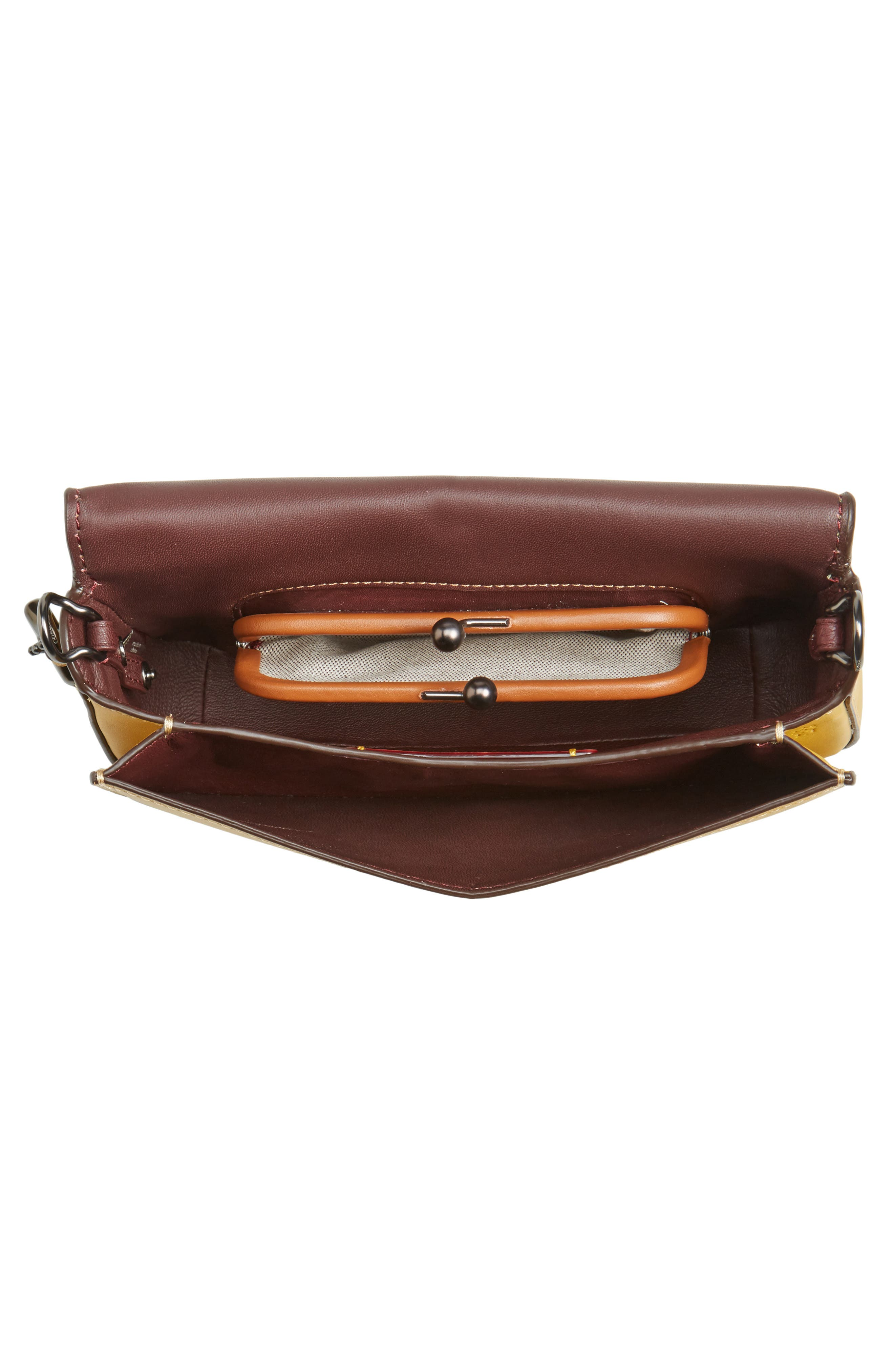 High Shine Dinky Metallic Leather Crossbody Bag,                             Alternate thumbnail 4, color,                             700