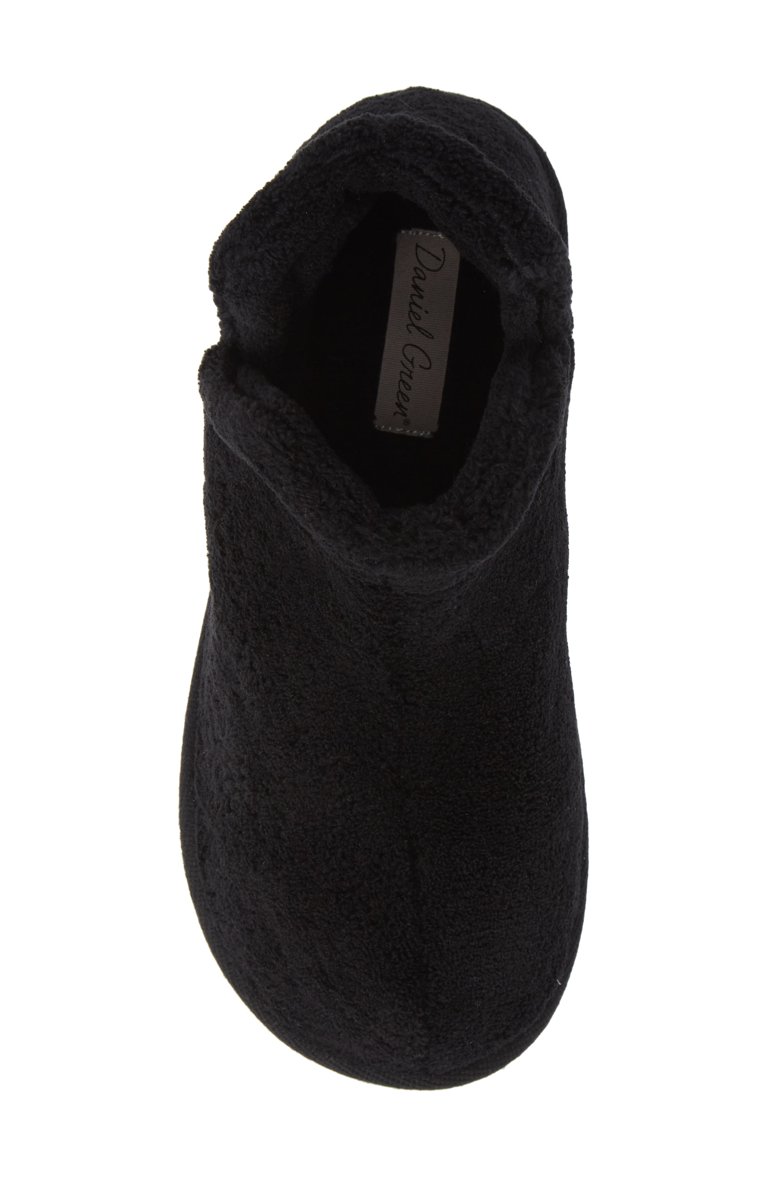 Evalyn Slipper Bootie,                             Alternate thumbnail 5, color,                             BLACK FABRIC