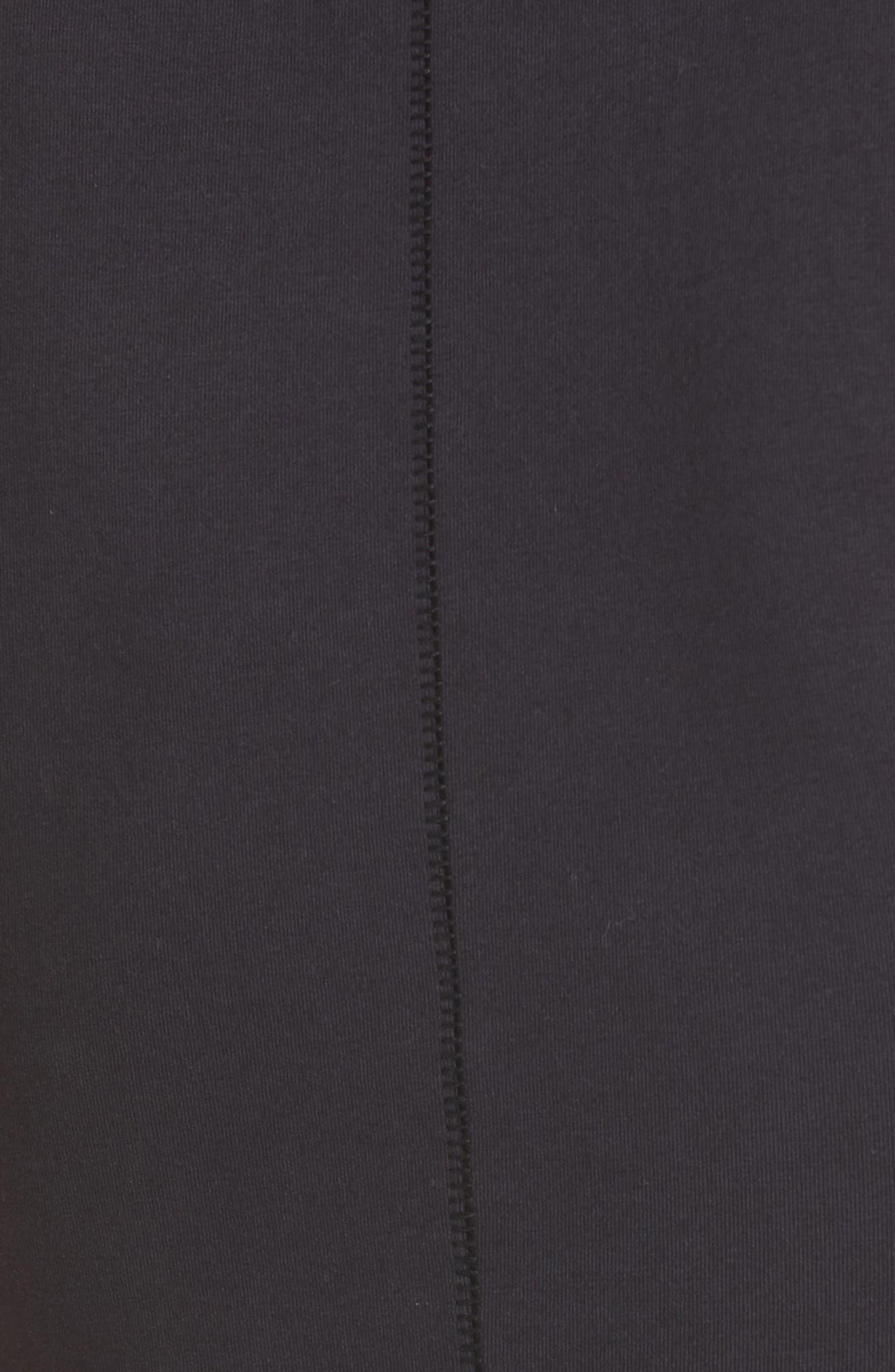 The Tank Stretch Cotton Bodysuit,                             Alternate thumbnail 5, color,                             BLACK