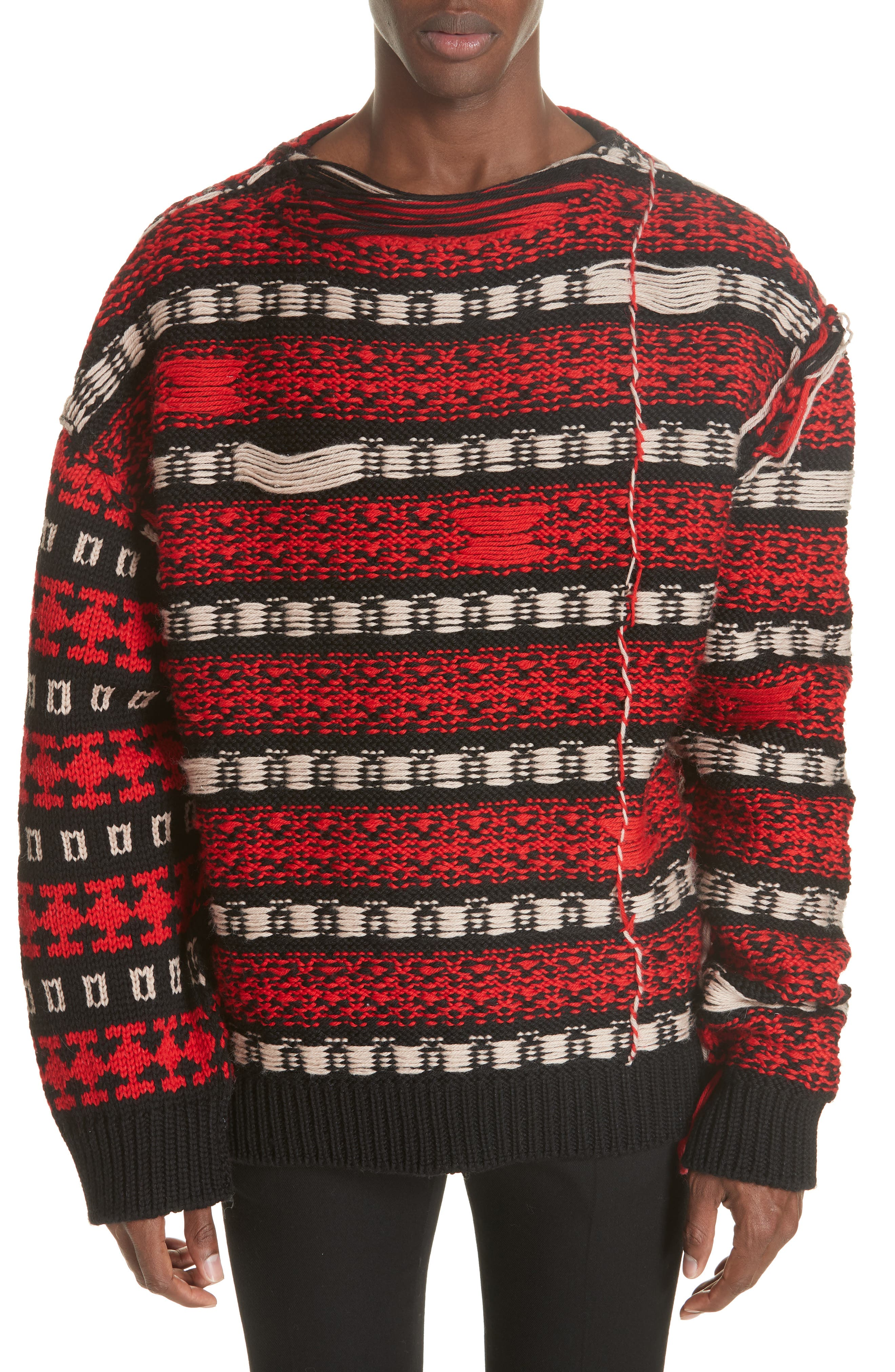 CALVIN KLEIN 205W39NYC Wool Sweater, Main, color, 011