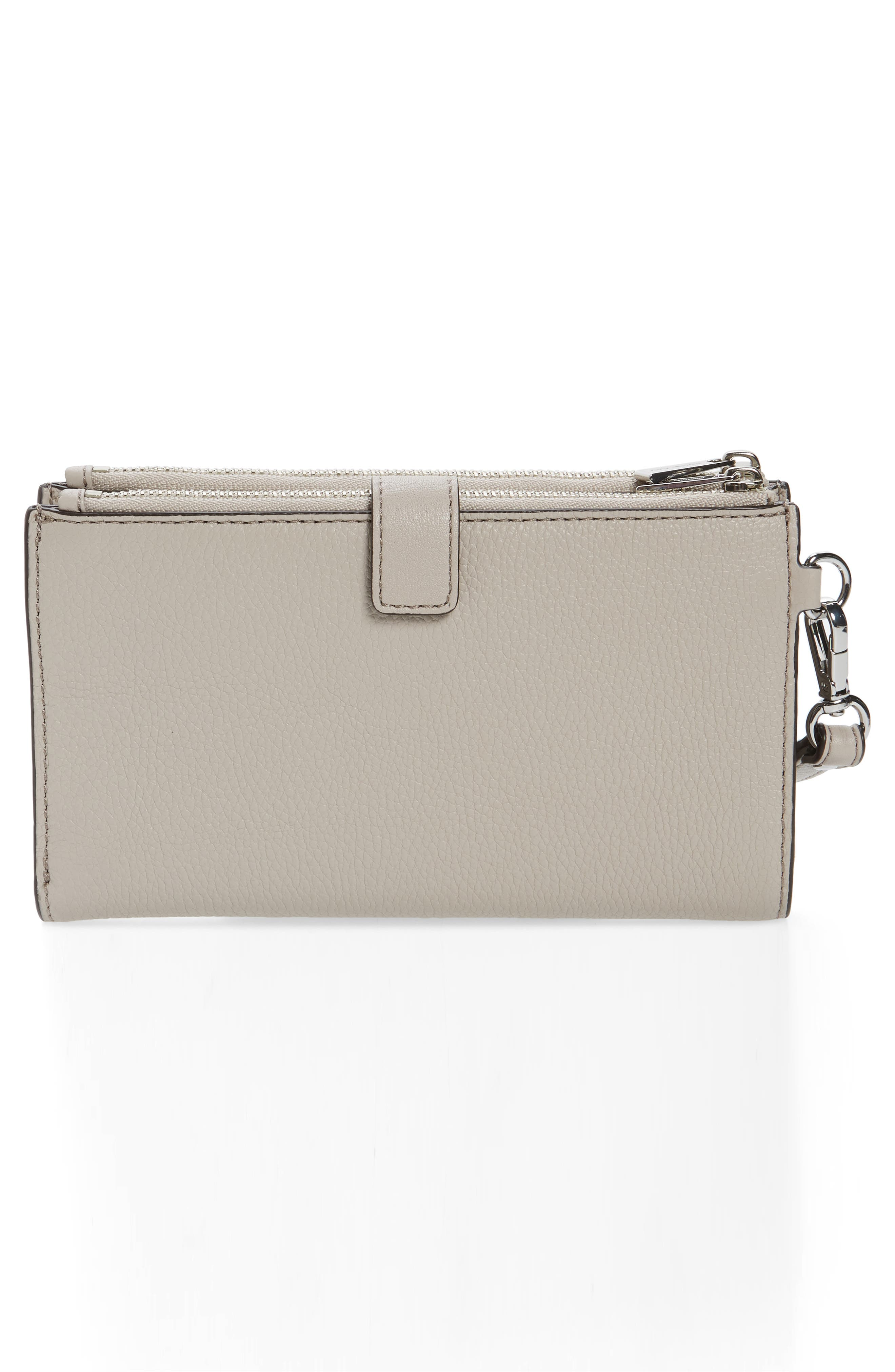 Adele Leather Wristlet,                             Alternate thumbnail 28, color,