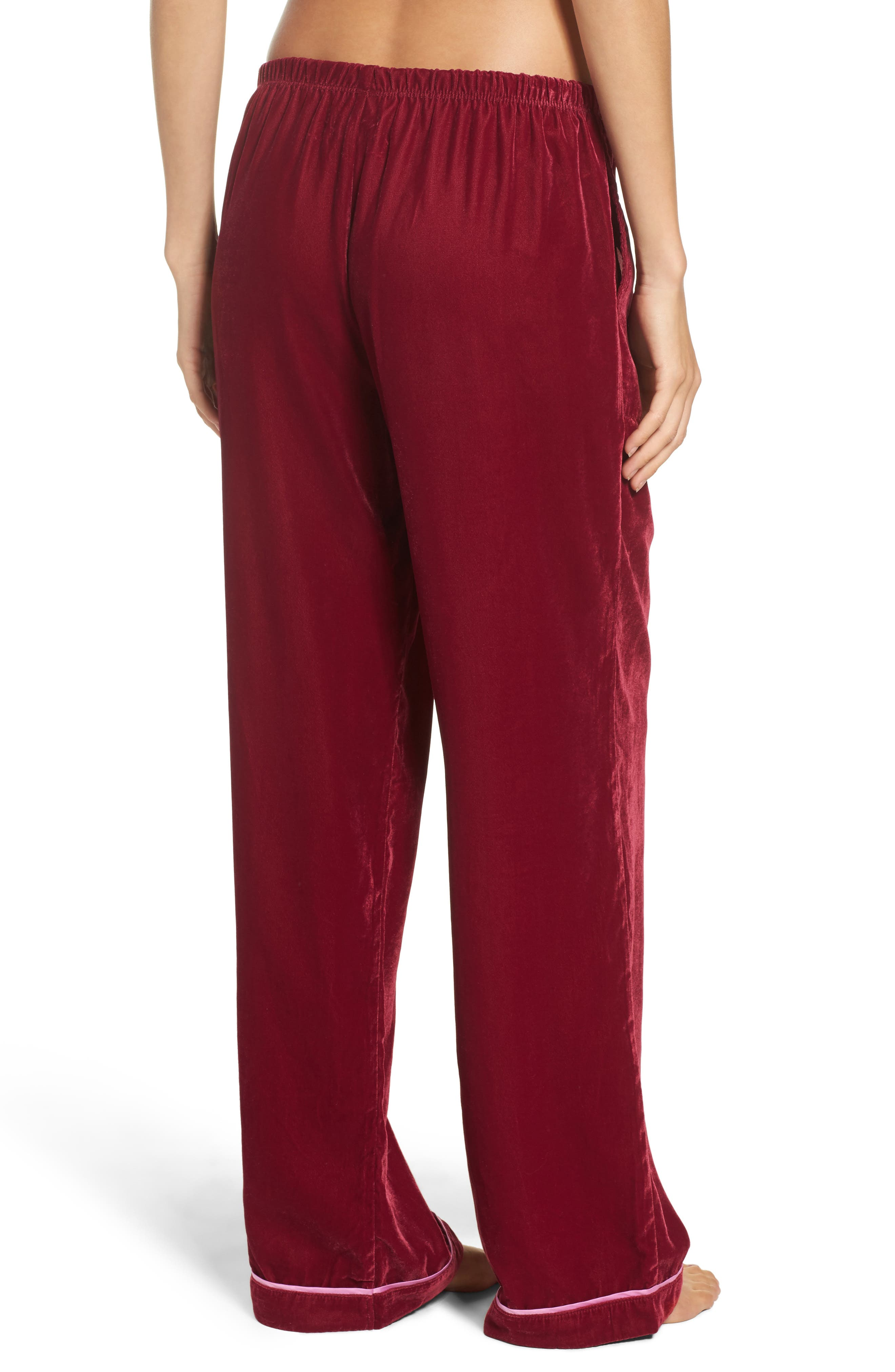 Velvet Pajama Pants,                             Alternate thumbnail 6, color,