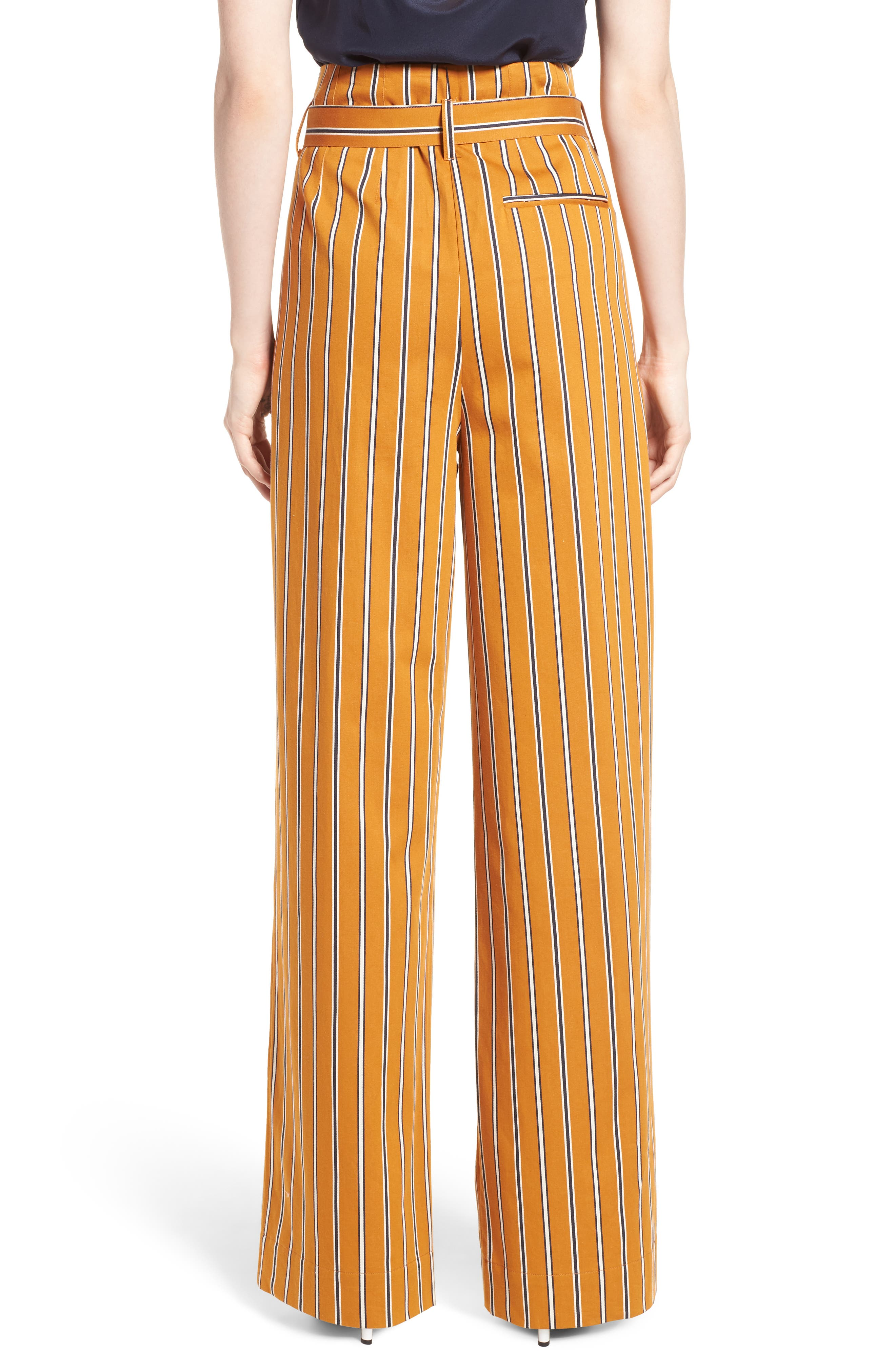 High Waist Wide Leg Stripe Pants,                             Alternate thumbnail 2, color,                             866