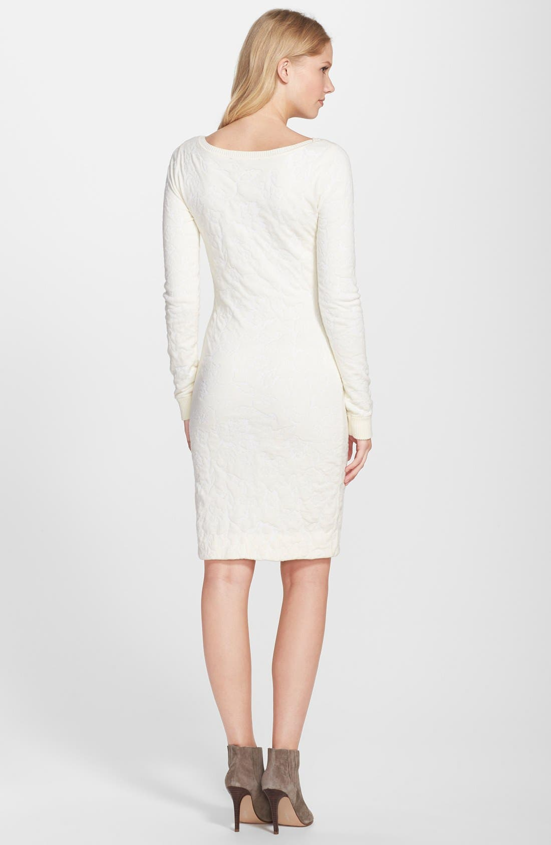 CYNTHIA STEFFE,                             Textured Long Sleeve Sweater Dress,                             Alternate thumbnail 4, color,                             900