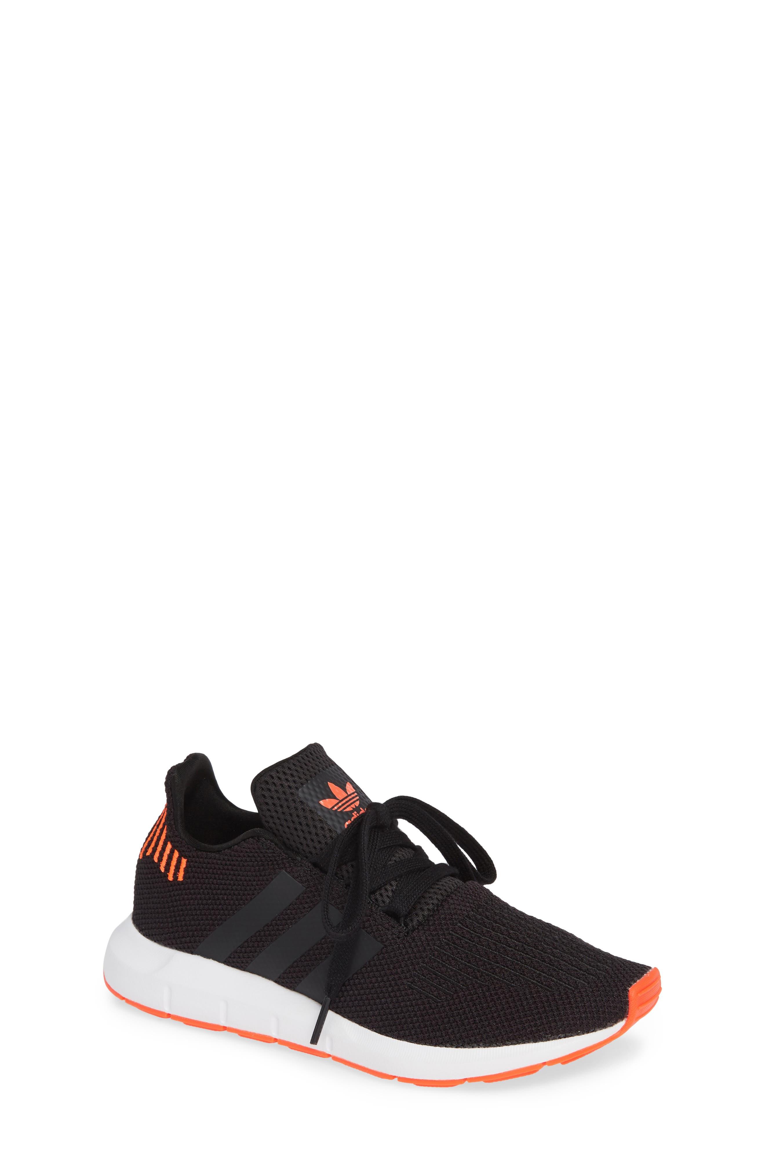 Swift Run J Sneaker,                             Main thumbnail 1, color,                             BLACK/ BLACK/ SOLAR RED