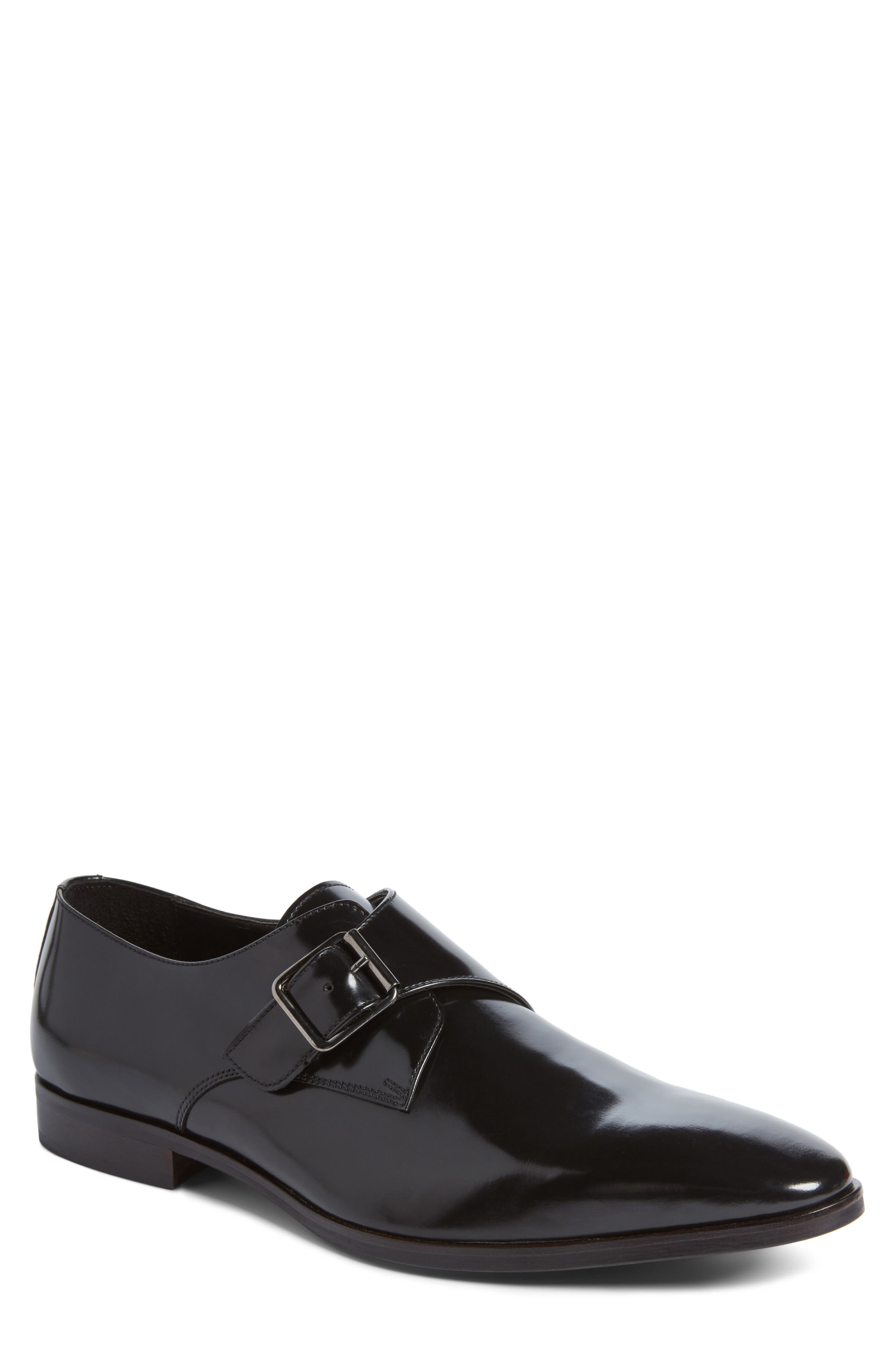 Webster Single Strap Monk Shoe,                             Main thumbnail 1, color,                             001