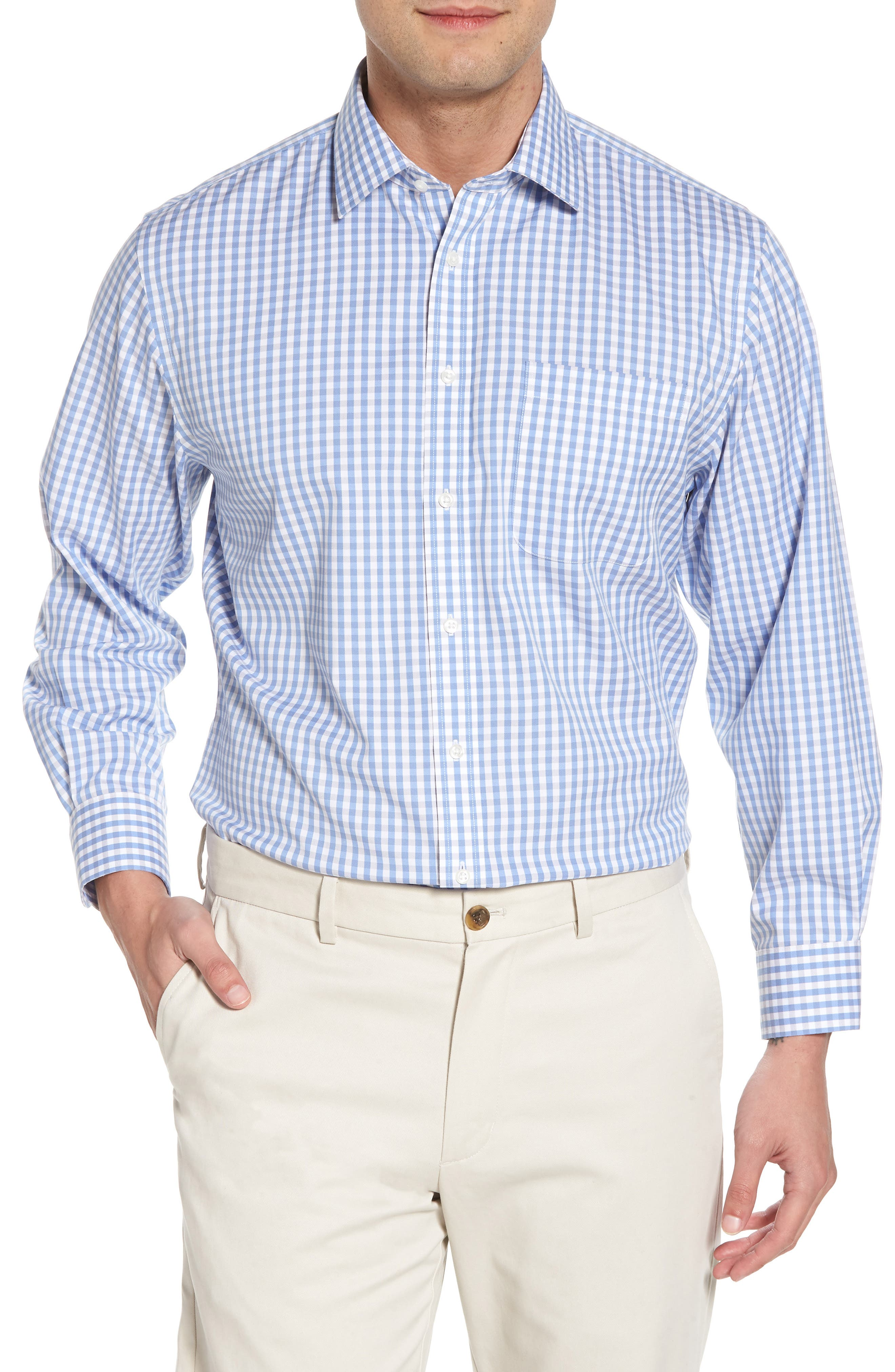 Smartcare<sup>™</sup> Traditional Fit Check Dress Shirt,                             Main thumbnail 1, color,                             050