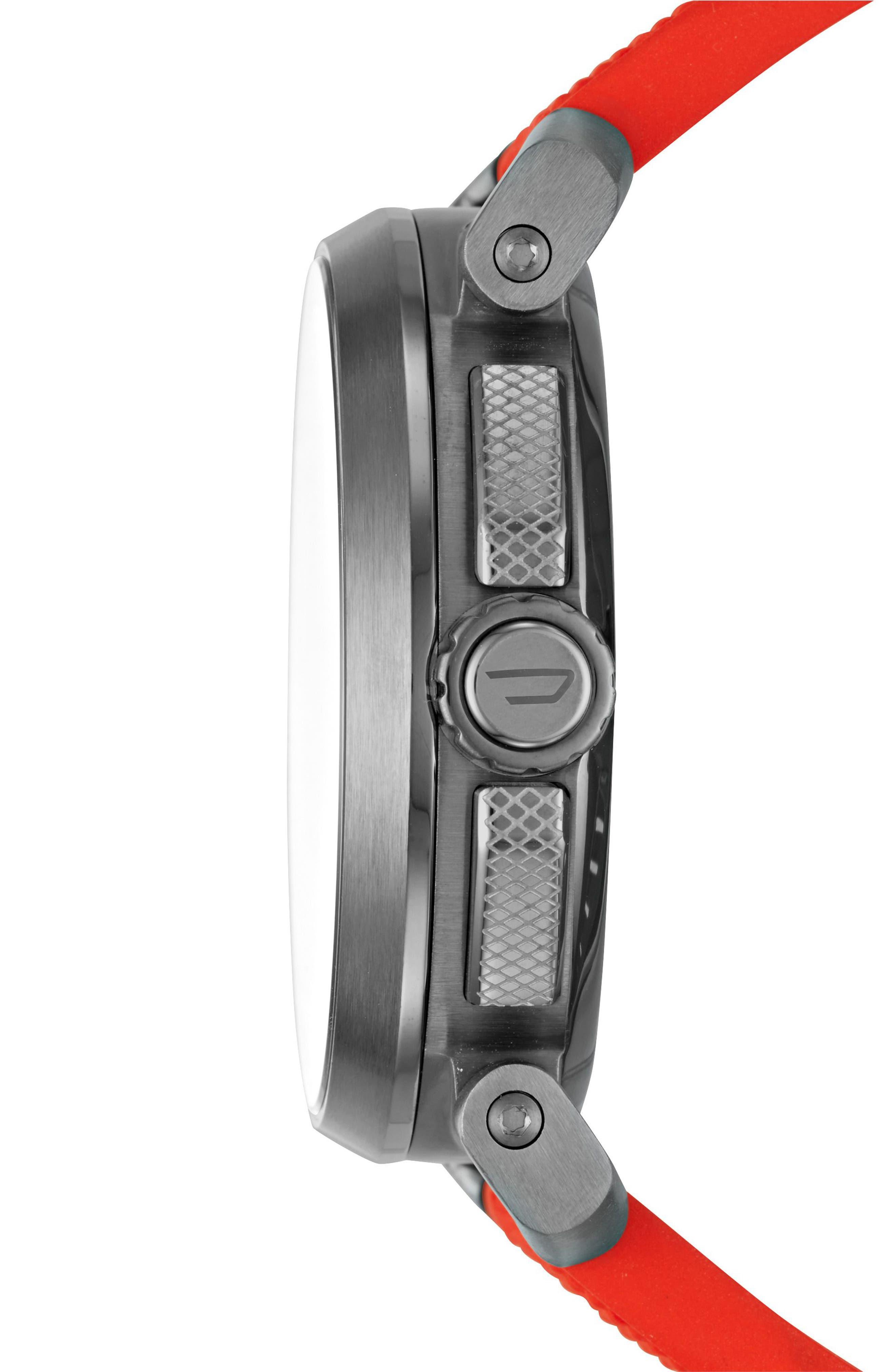 Sleeper Hybrid Canvas Strap Watch, 47mm,                             Alternate thumbnail 3, color,                             602