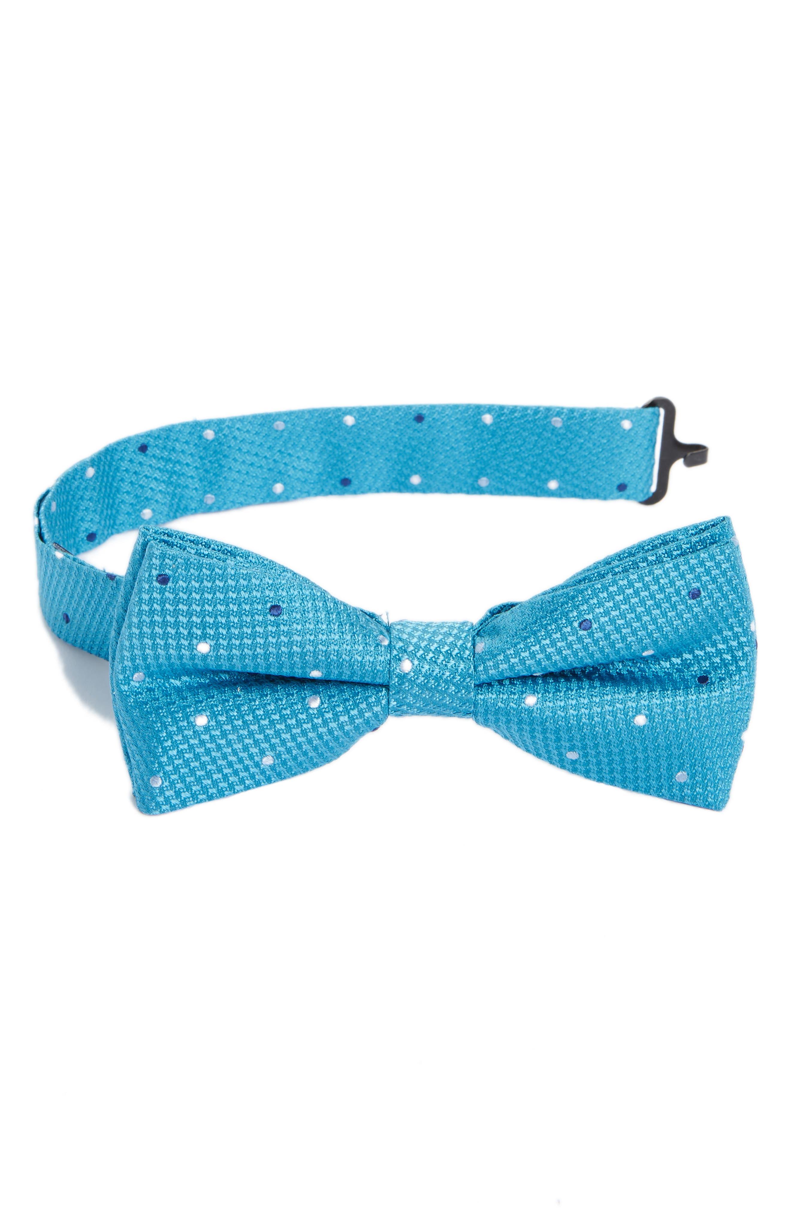 Dot Silk Bow Tie,                             Main thumbnail 1, color,