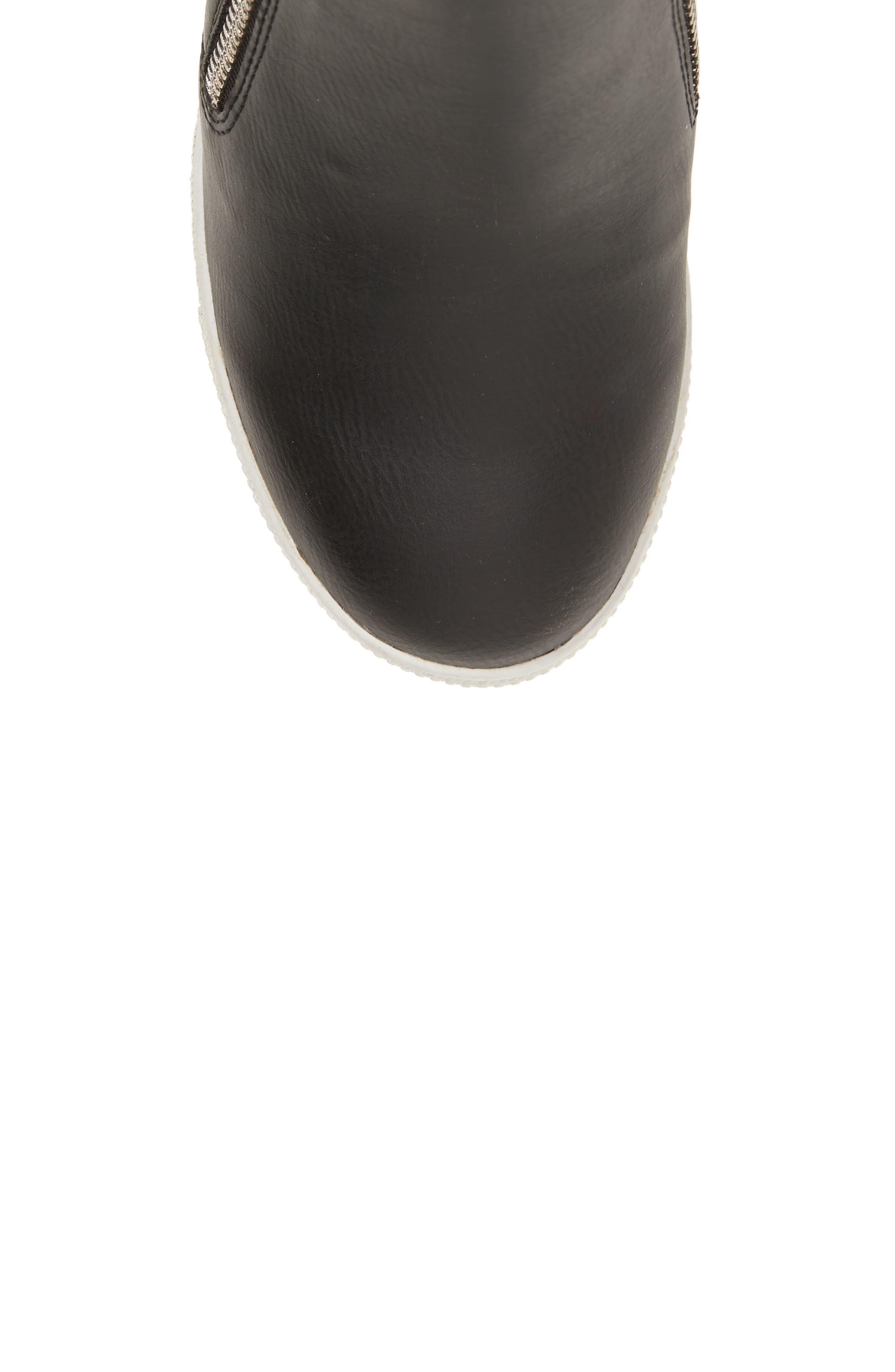 Wedgie Hidden Wedge Sneaker,                             Alternate thumbnail 5, color,                             BLACK