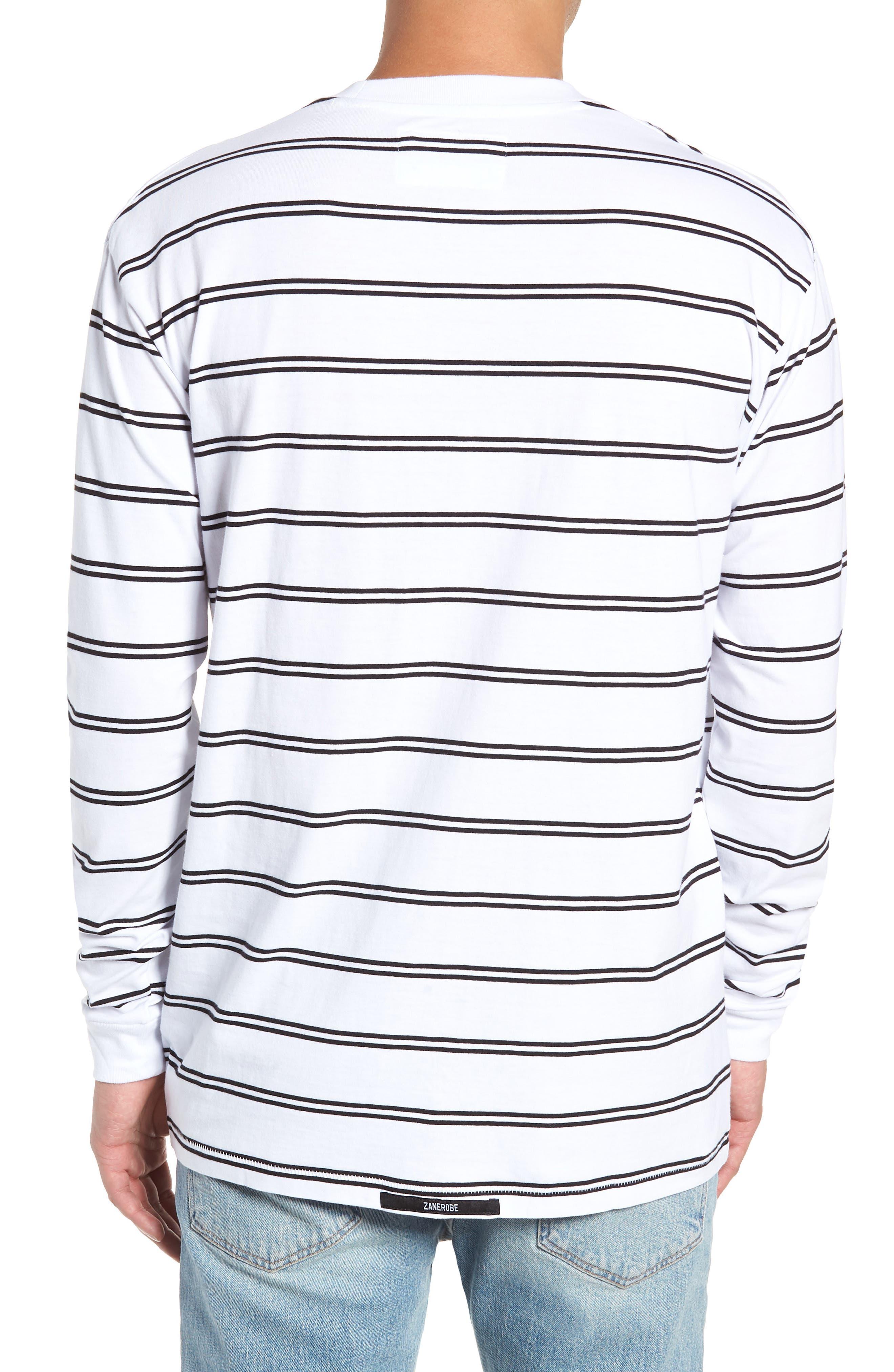 Channel Box Long Sleeve T-Shirt,                             Alternate thumbnail 2, color,                             100