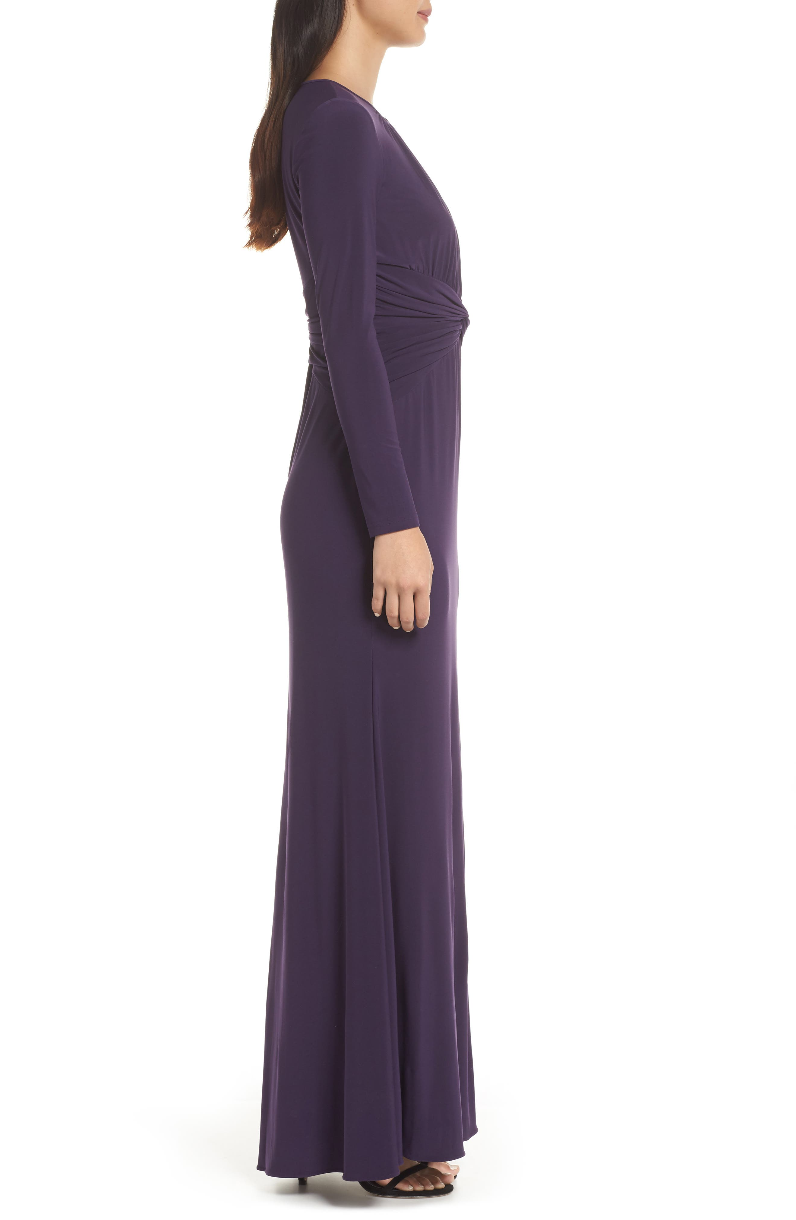 ADRIANNA PAPELL,                             Twist Waist Knit Dress,                             Alternate thumbnail 3, color,                             501