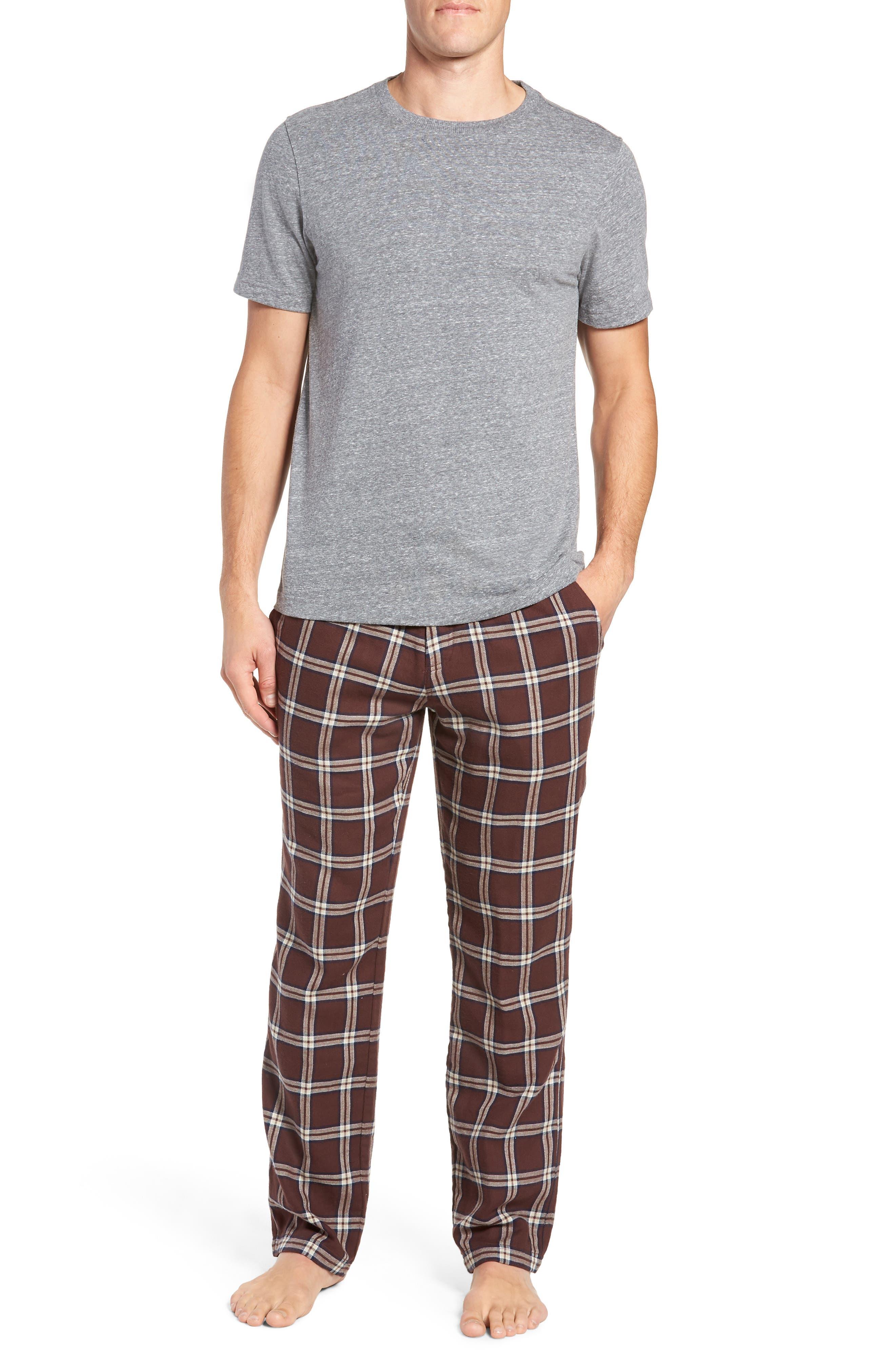 Grant Pajama Set,                             Main thumbnail 1, color,                             PORT/ GREY HEATHER