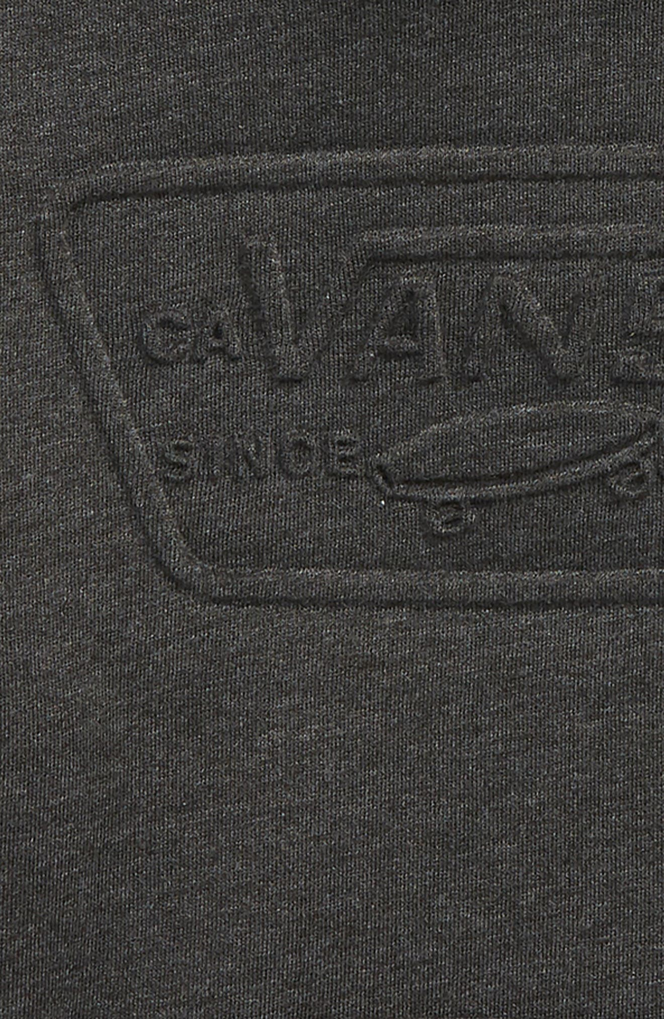 Embossed Full Patch Hoodie,                             Alternate thumbnail 2, color,                             BLACK HEATHER