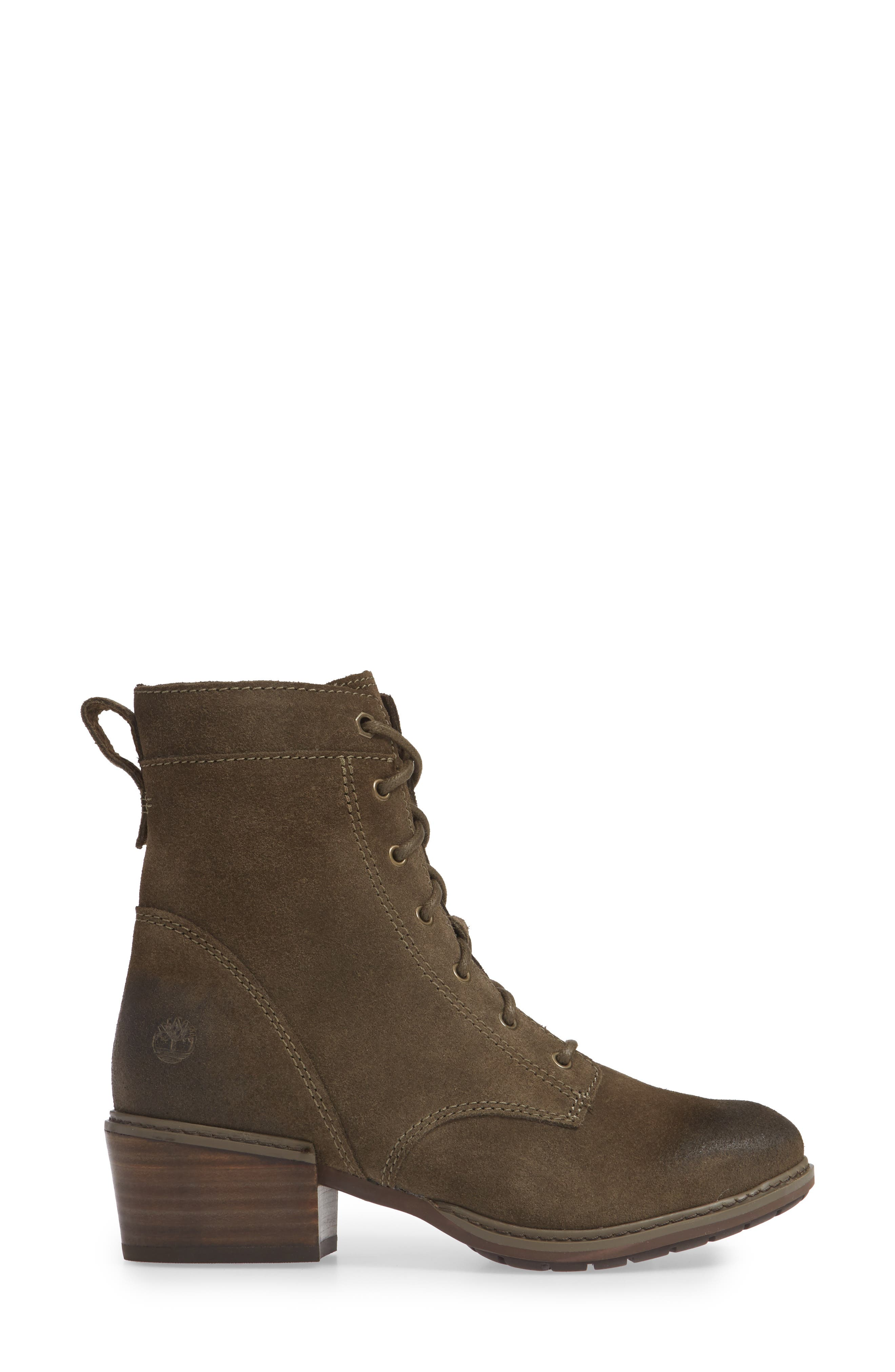 TIMBERLAND,                             Sutherlin Bay Water Resistant Lace-Up Bootie,                             Alternate thumbnail 3, color,                             CANTEEN SUEDE