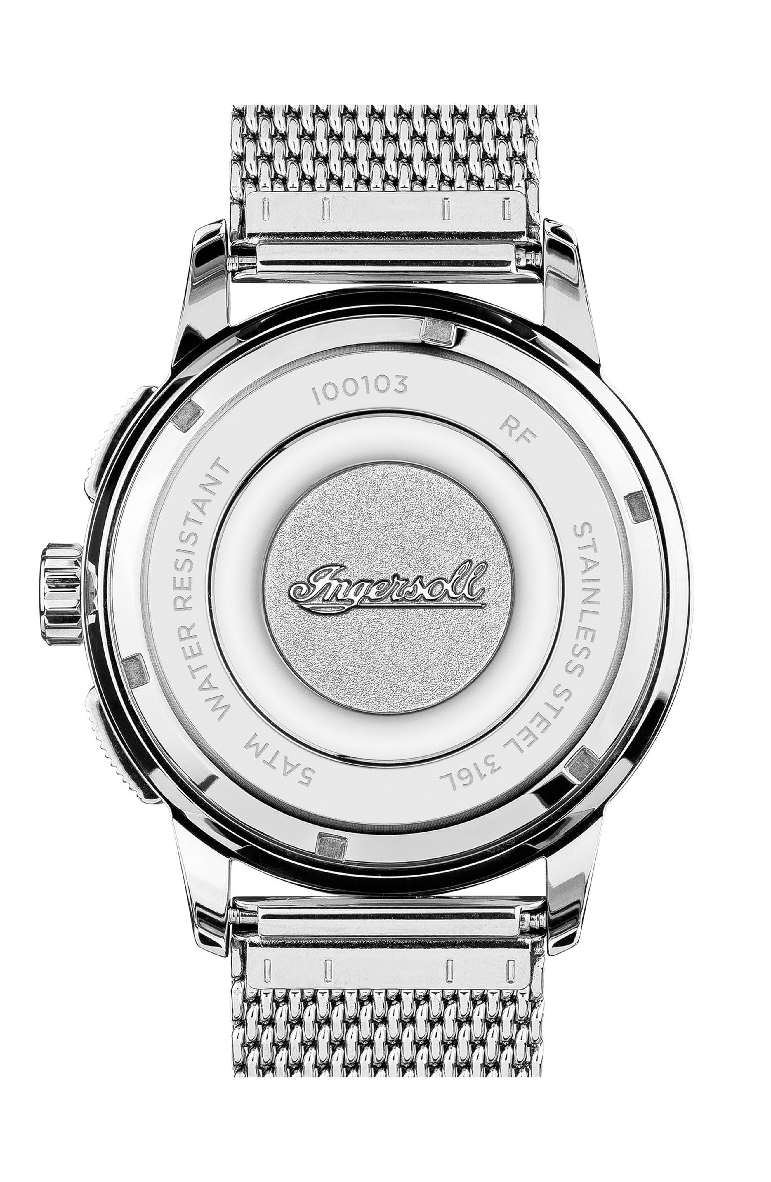 Ingersoll Regent Chronograph Mesh Strap Watch, 47mm,                             Alternate thumbnail 2, color,                             040