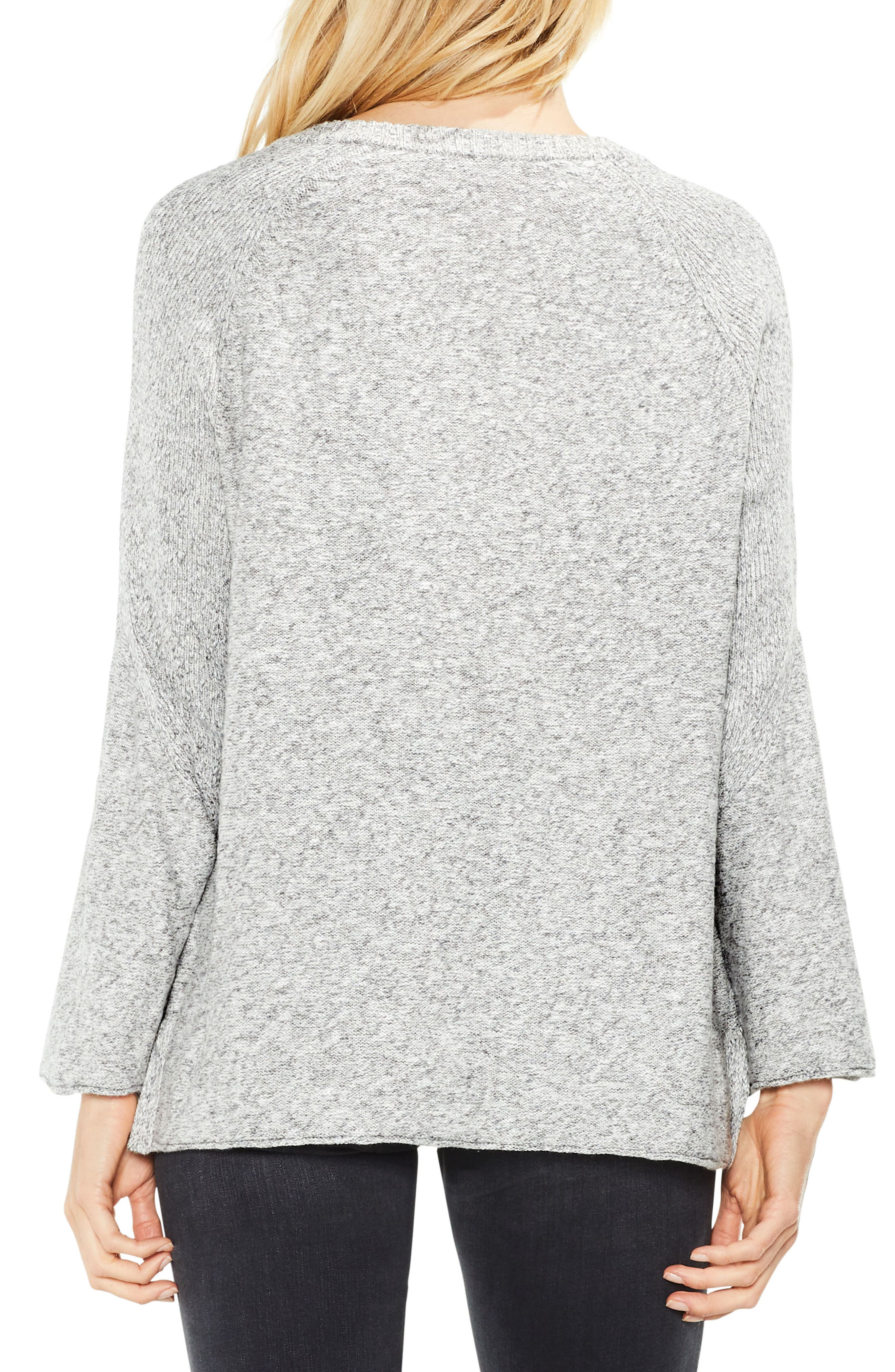 Bell Sleeve Ribbed Sweater,                             Alternate thumbnail 4, color,