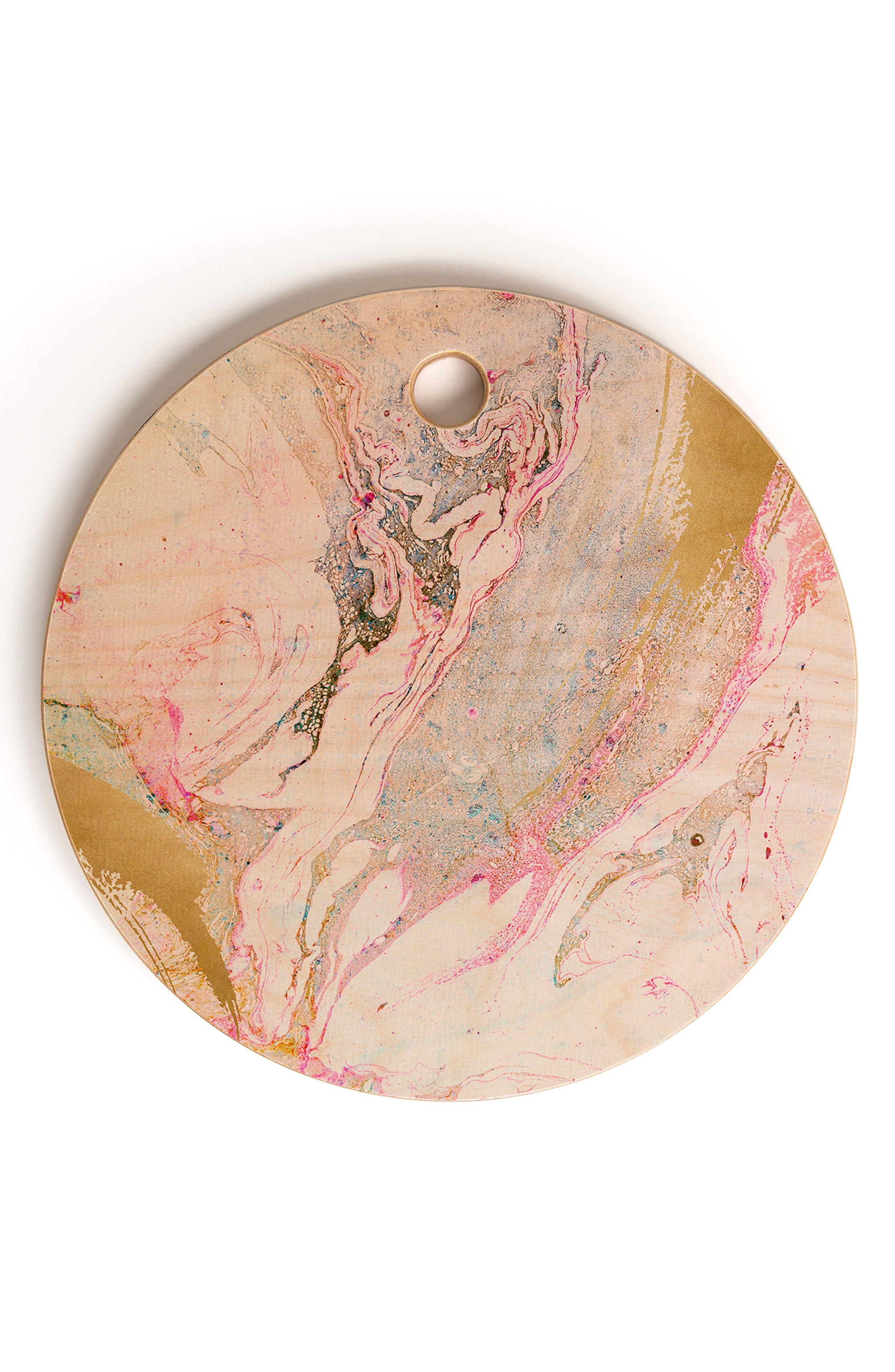 Iveta Abolina Birch Wood Cutting Board, Main, color, PINK