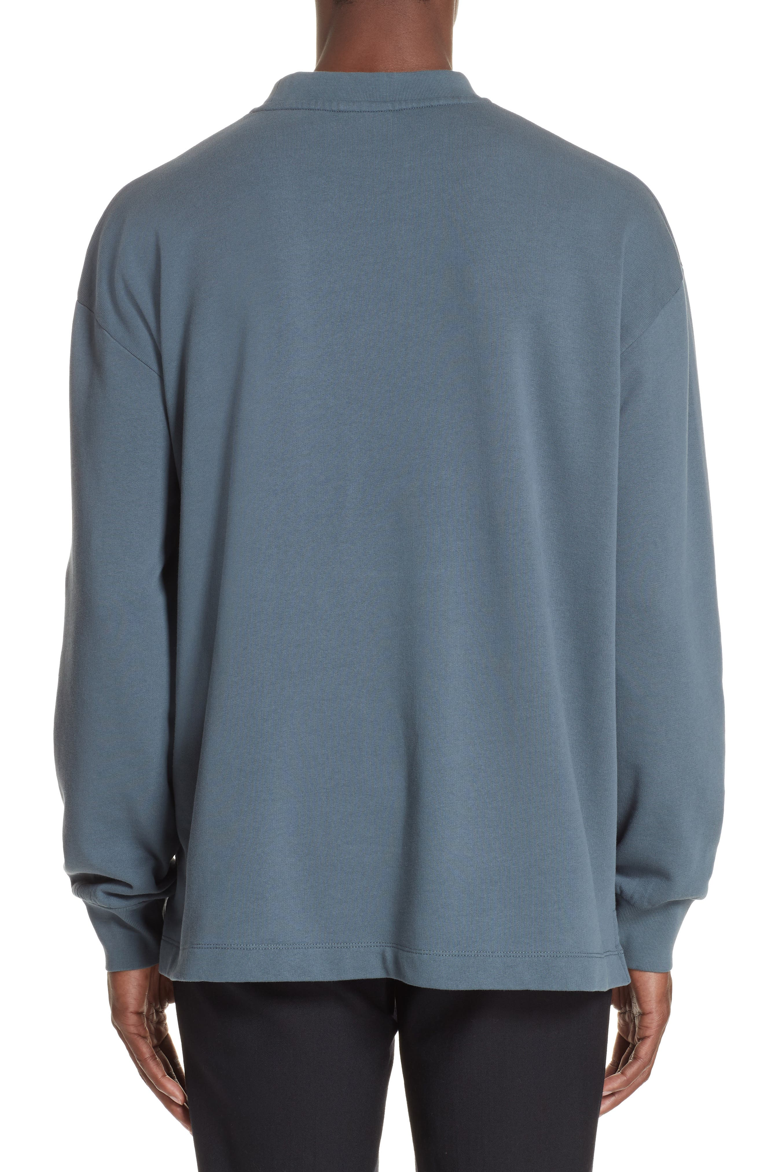 Fleece Knit Sweatshirt,                             Alternate thumbnail 2, color,                             GREY