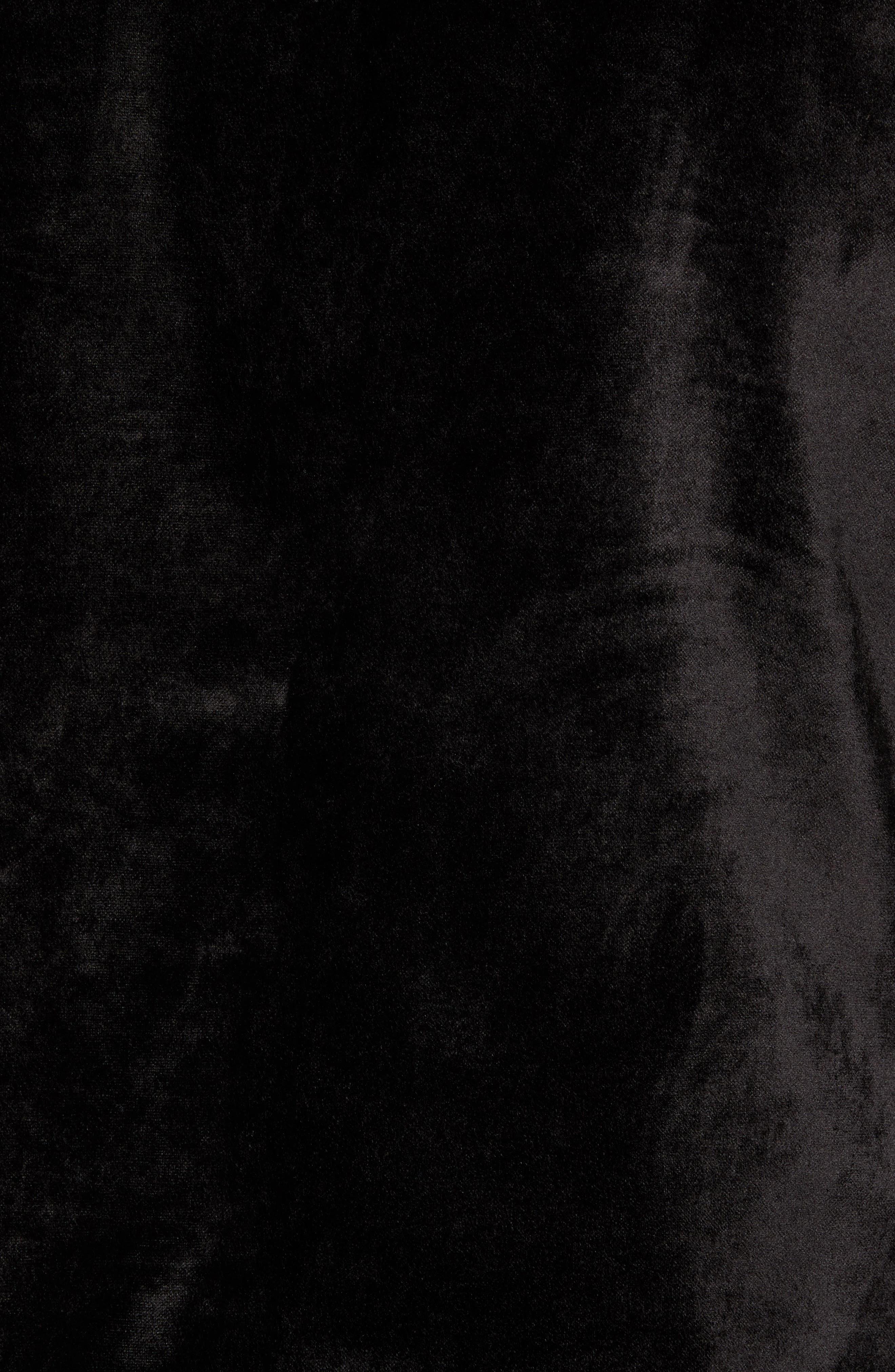 Shawl Collar Velvet Jacket,                             Alternate thumbnail 6, color,                             BLACK