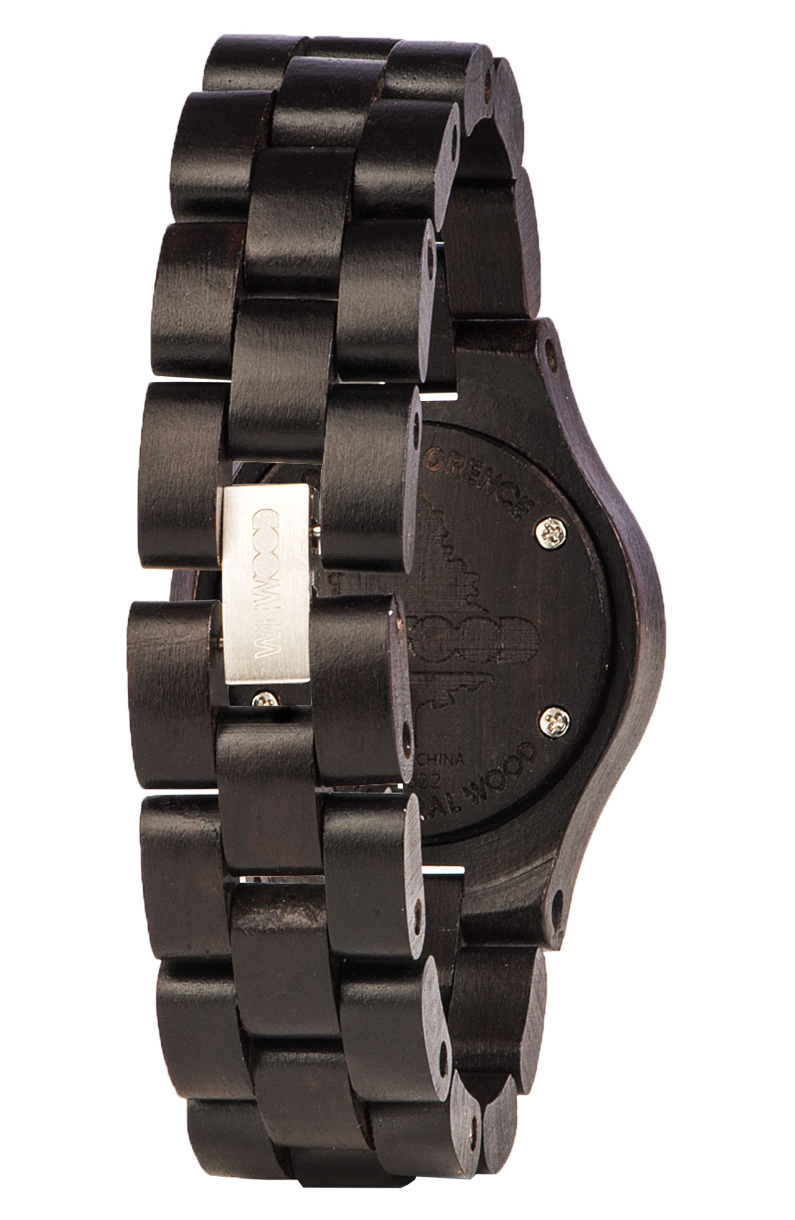 Criss Wood Bracelet Watch, 31mm,                             Alternate thumbnail 2, color,                             001