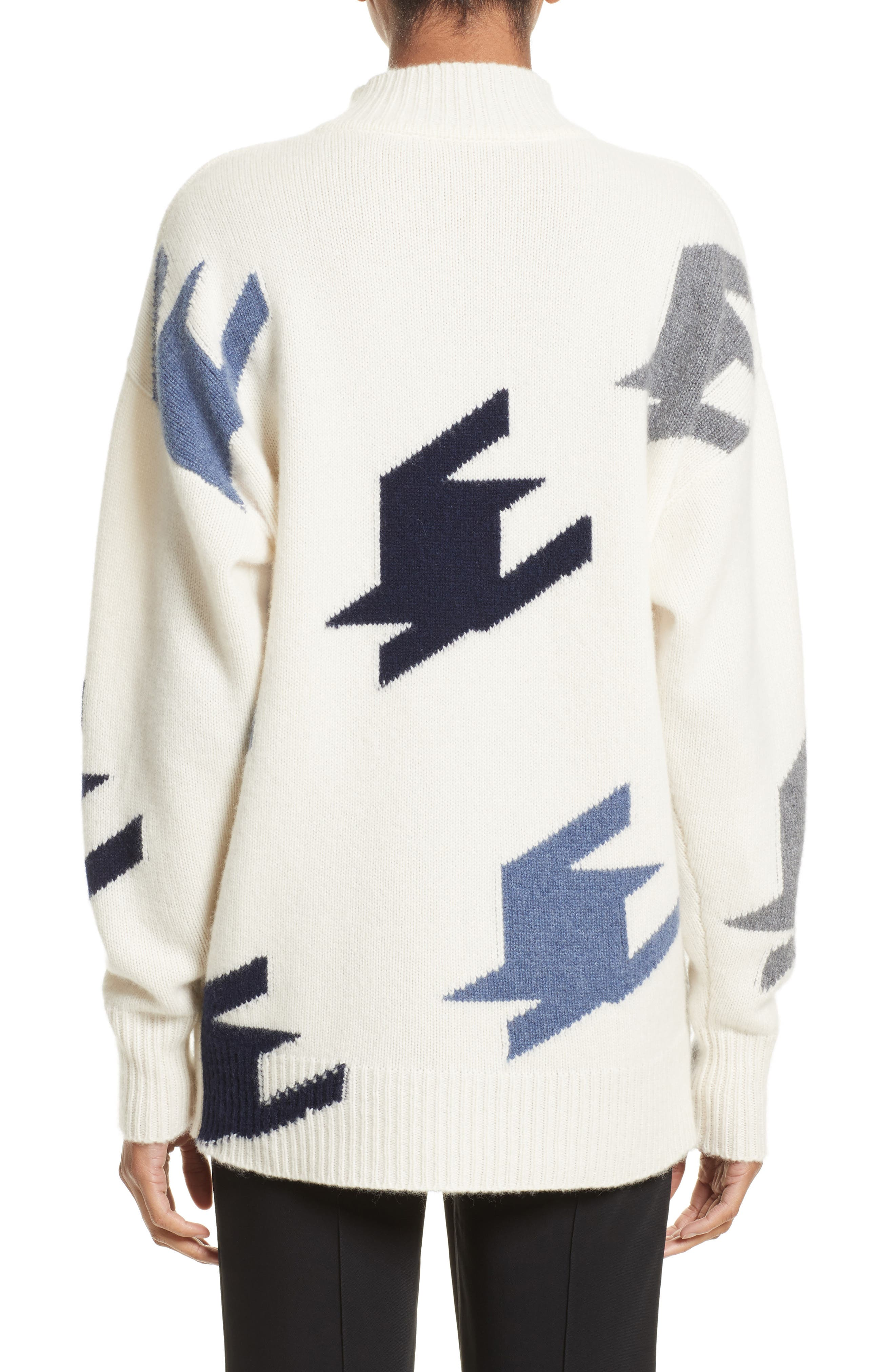VICTORIA BECKHAM,                             Houndstooth Cashmere Sweater,                             Alternate thumbnail 2, color,                             905