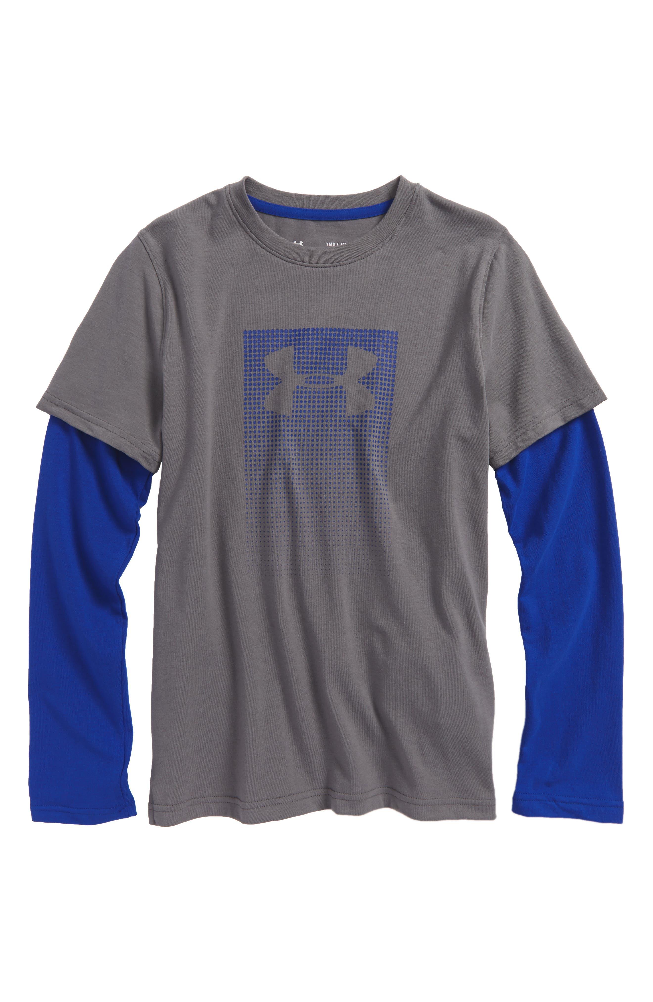 Long Sleeve HeatGear<sup>®</sup> T-Shirt,                             Main thumbnail 2, color,