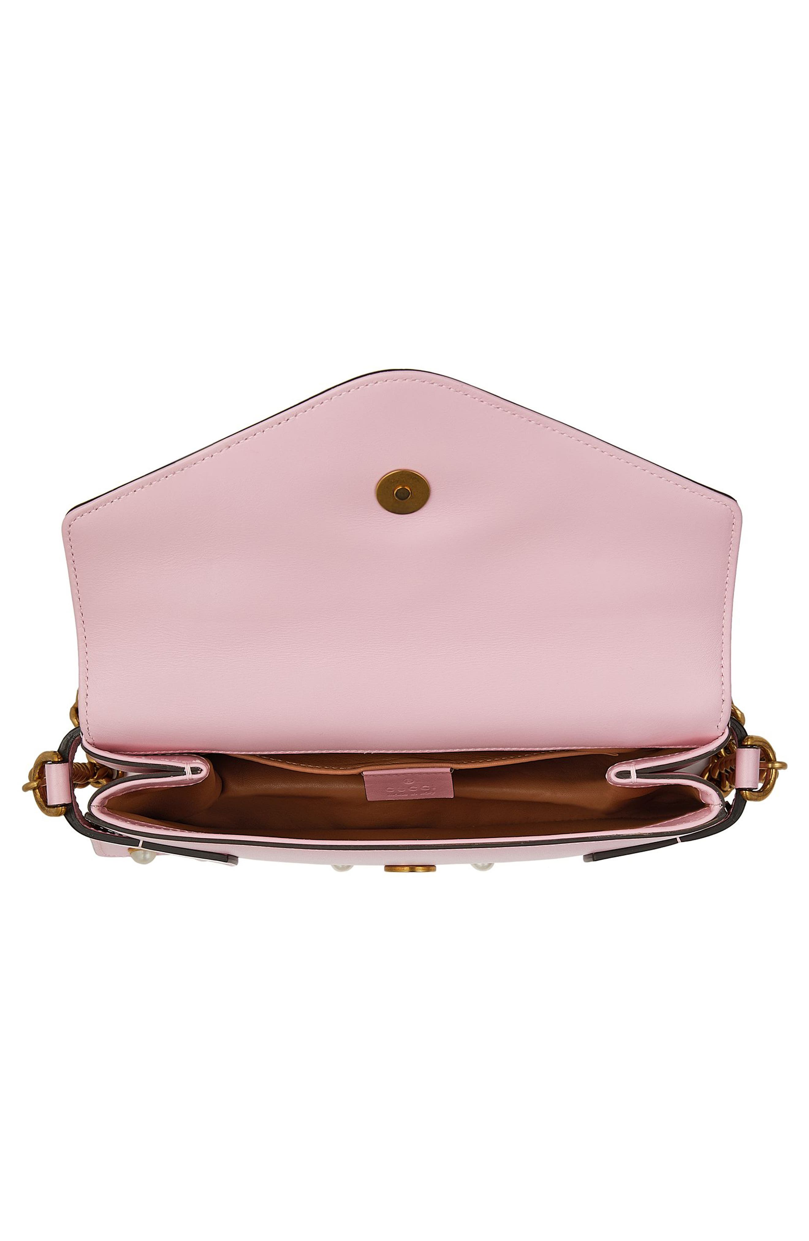Mini Broadway Leather Shoulder Bag,                             Alternate thumbnail 3, color,                             653