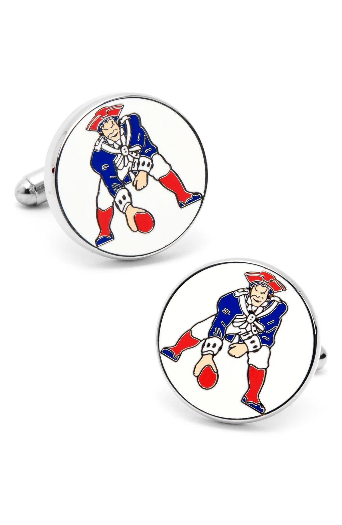 'Vintage Patriots' Cuff Links,                         Main,                         color, BLUE