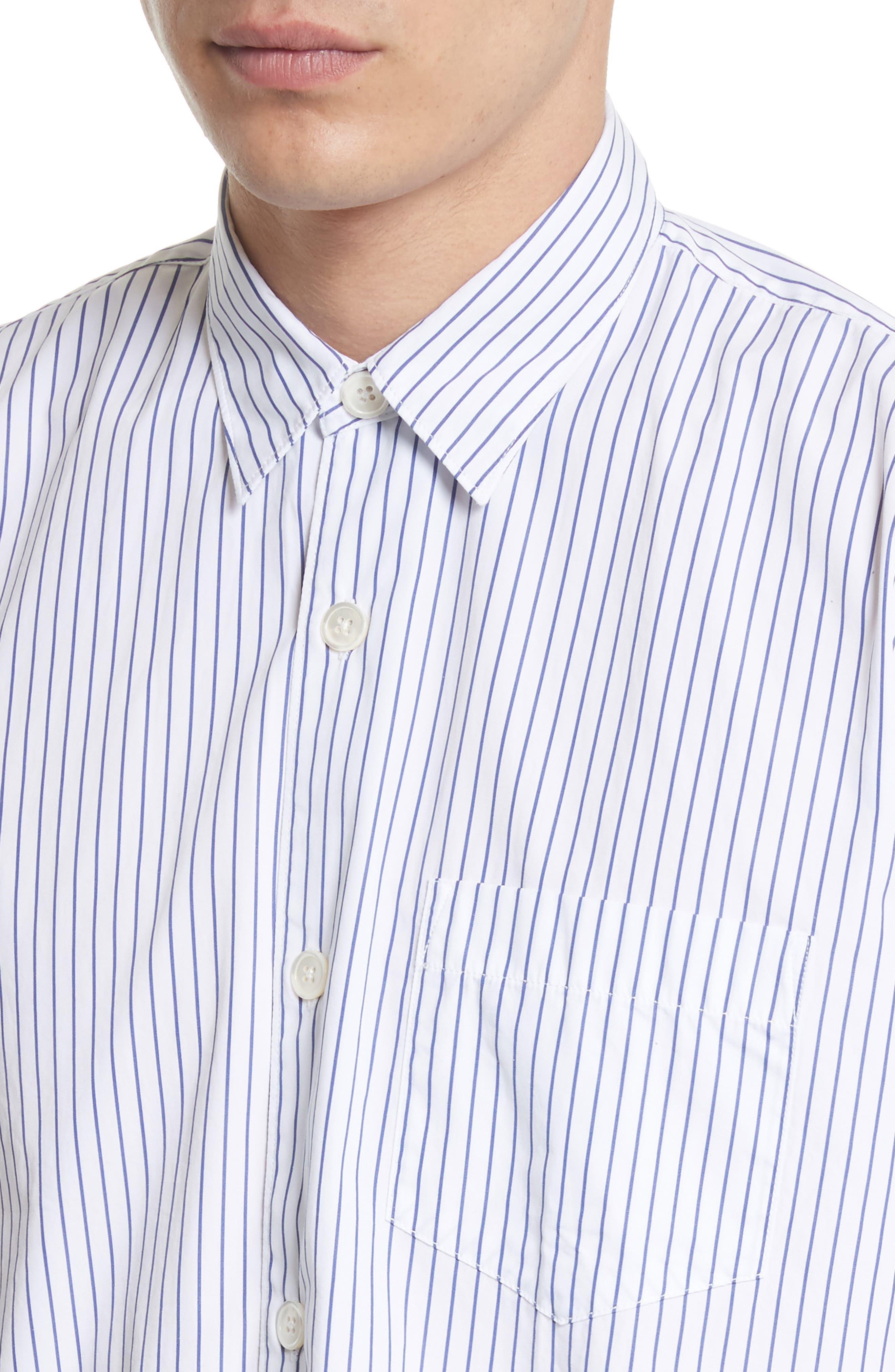 Stripe Short Sleeve Sport Shirt,                             Alternate thumbnail 5, color,                             400