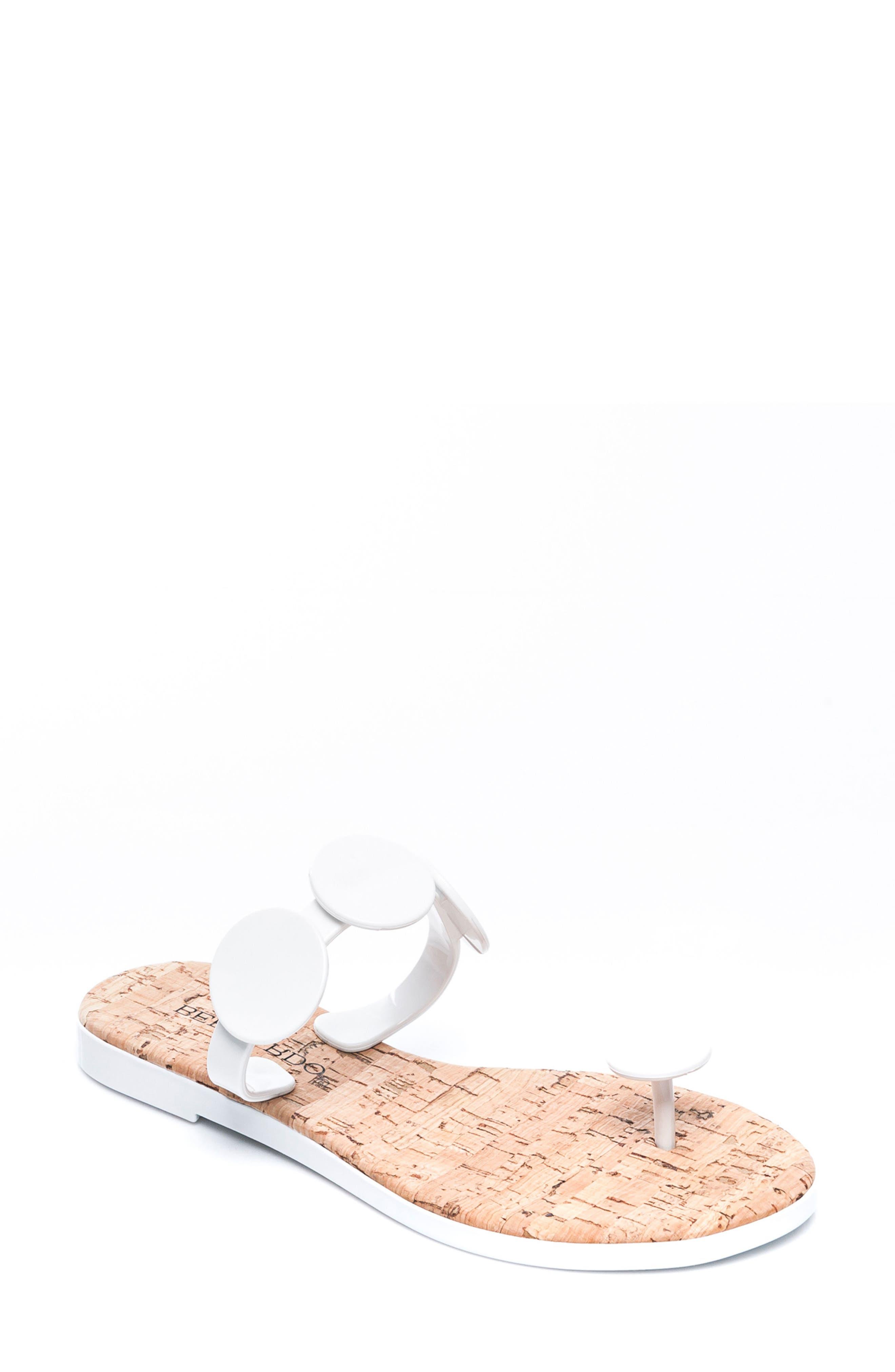 Bernardo Footwear New Moon Flip Flop, White