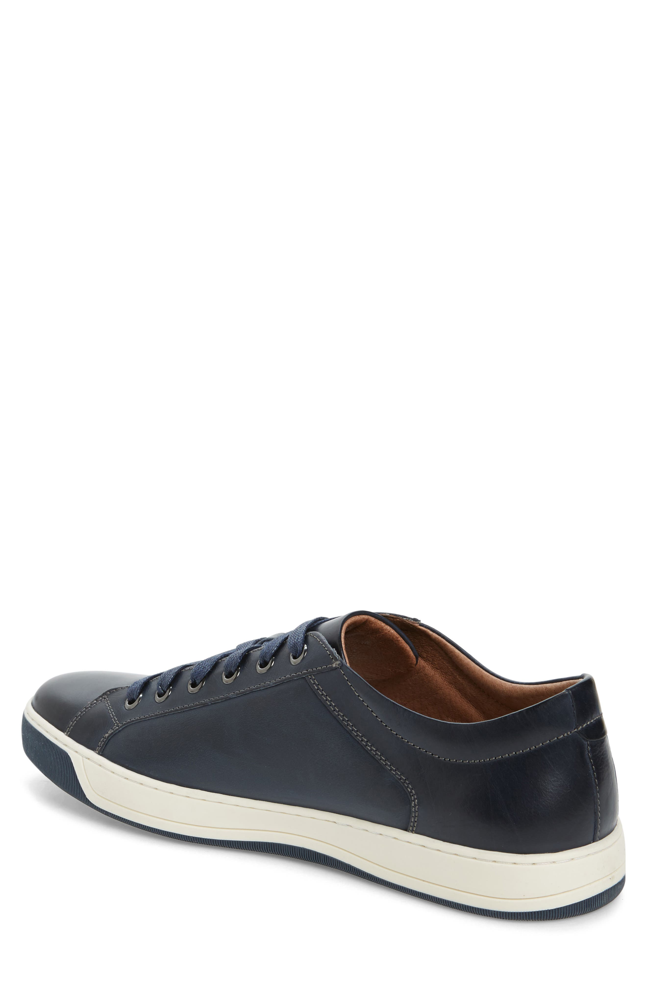 J&M 1850,                             Allister Sneaker,                             Alternate thumbnail 2, color,                             NAVY/ NAVY LEATHER