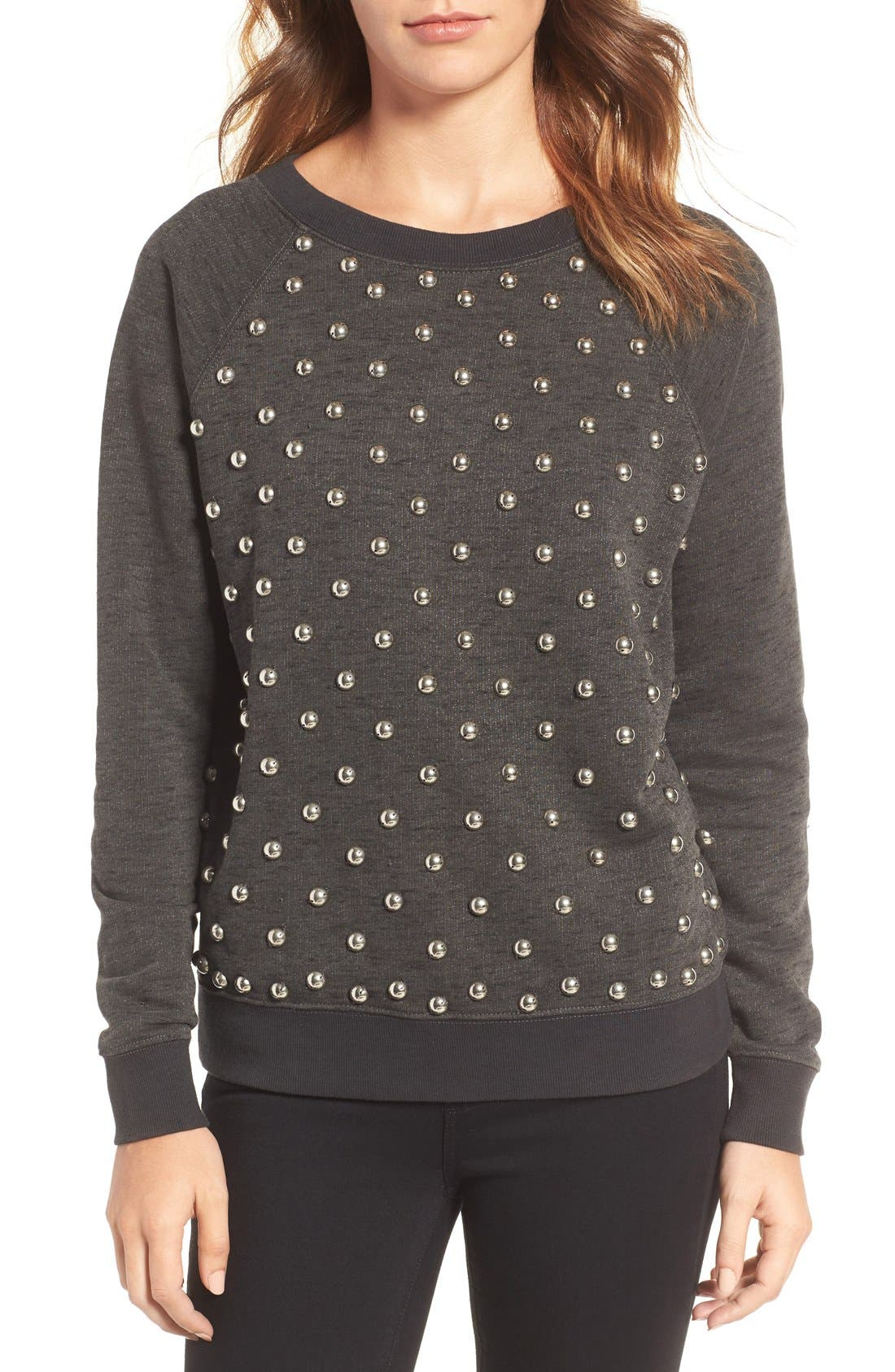Studded Sweatshirt,                             Main thumbnail 1, color,                             094
