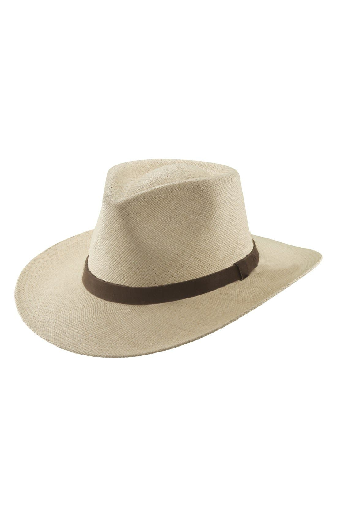 Straw Outback Hat,                             Main thumbnail 1, color,                             101