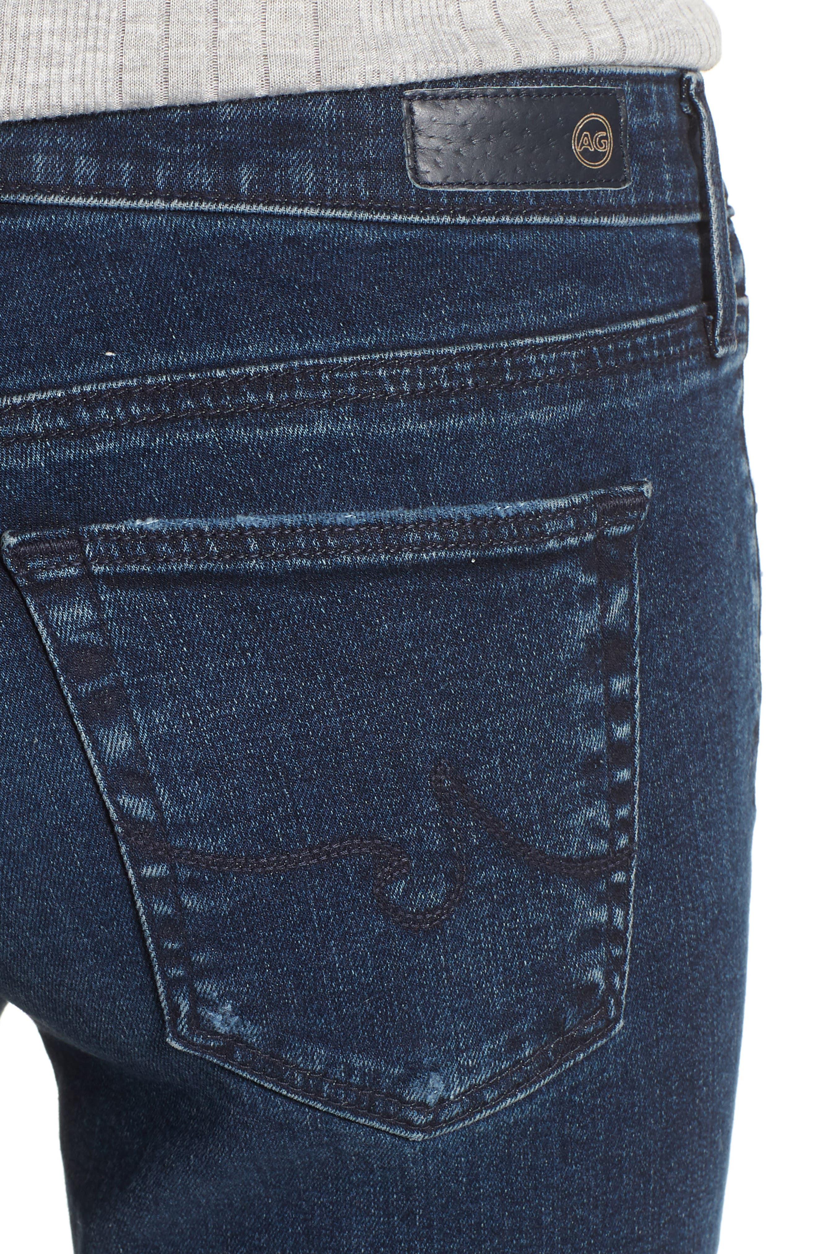 The Legging Ankle Super Skinny Jeans,                             Alternate thumbnail 4, color,                             ETHEREAL