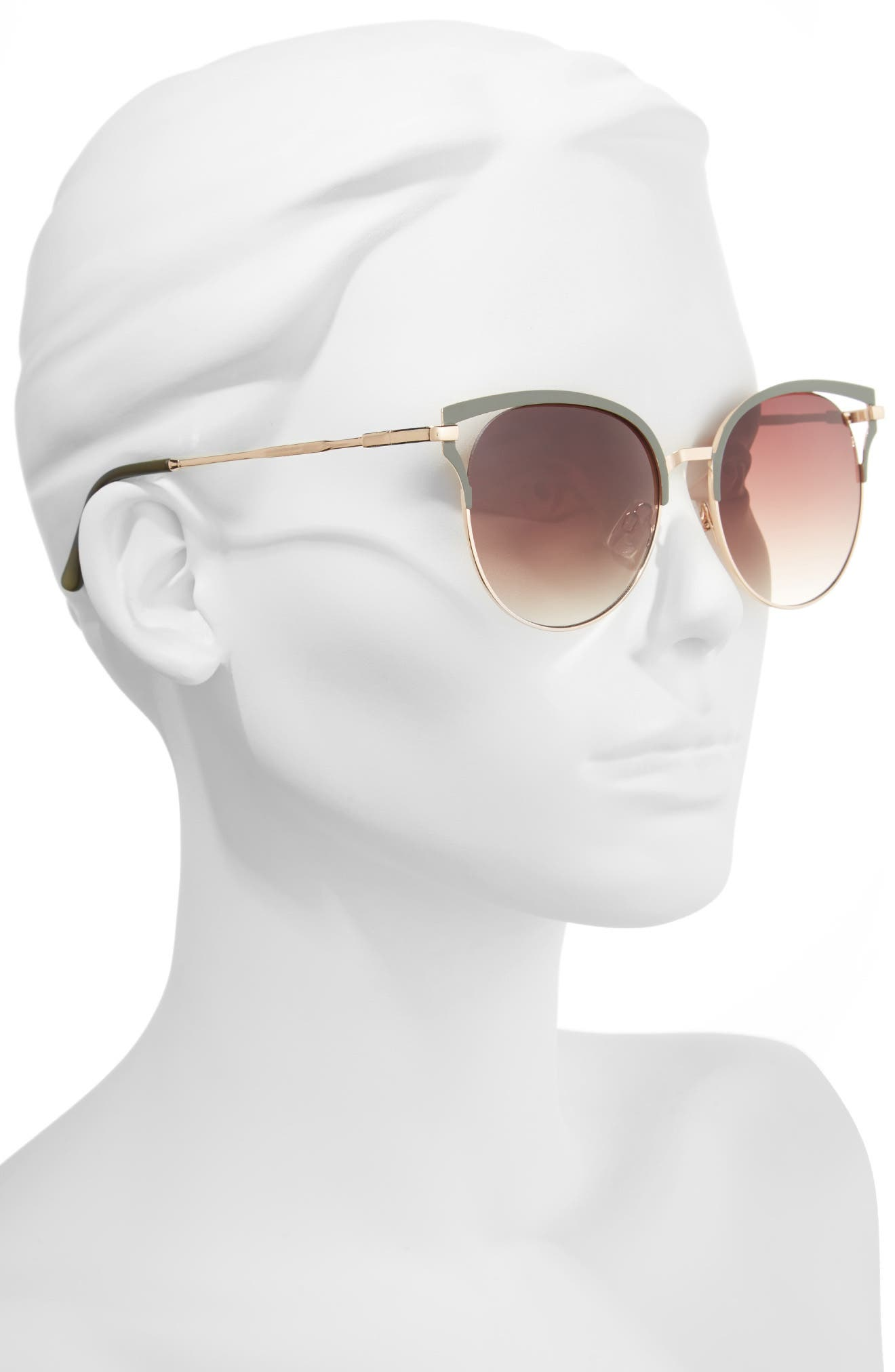 55mm Colored Round Sunglasses,                             Alternate thumbnail 2, color,                             300
