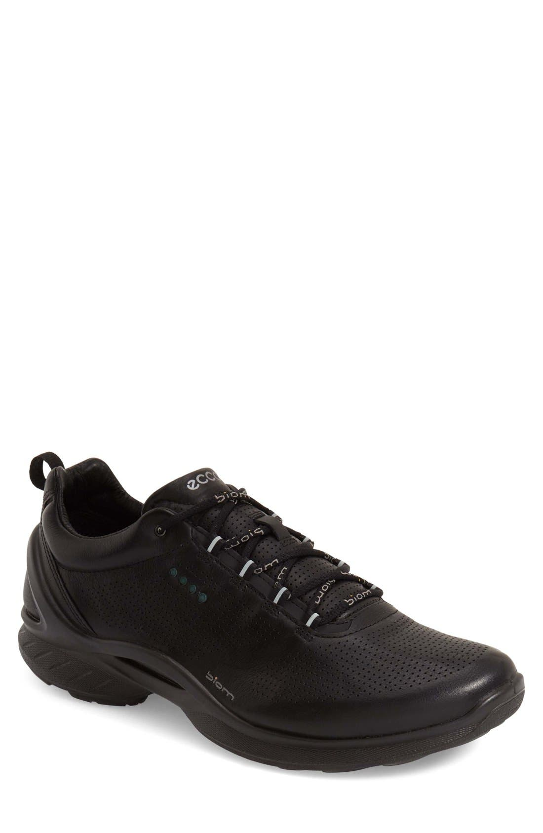 'BIOM Fjuel' Sneaker,                             Main thumbnail 1, color,                             BLACK LEATHER