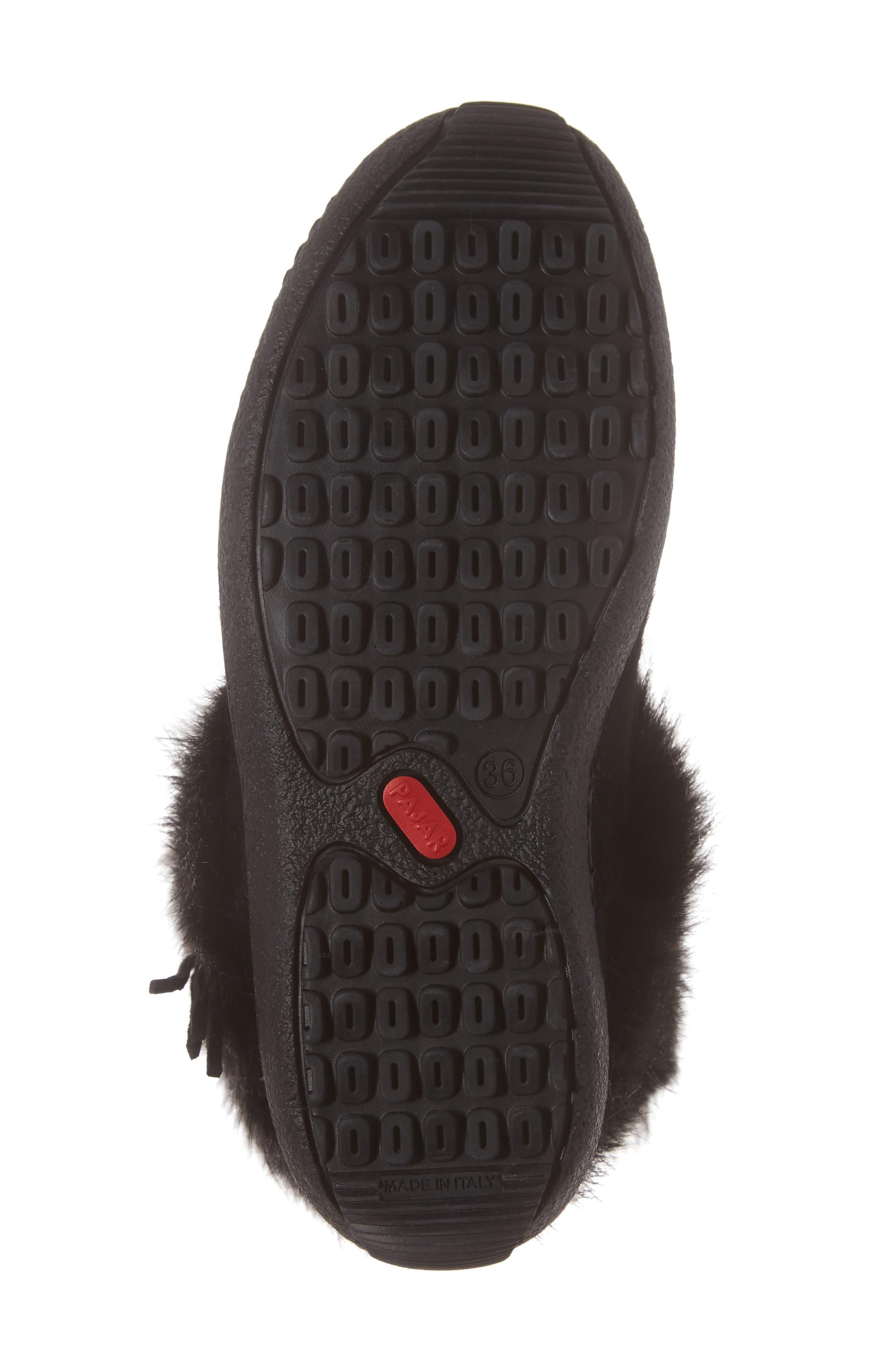 Laura Genuine Goat Fur Waterproof Boot,                             Alternate thumbnail 6, color,                             001