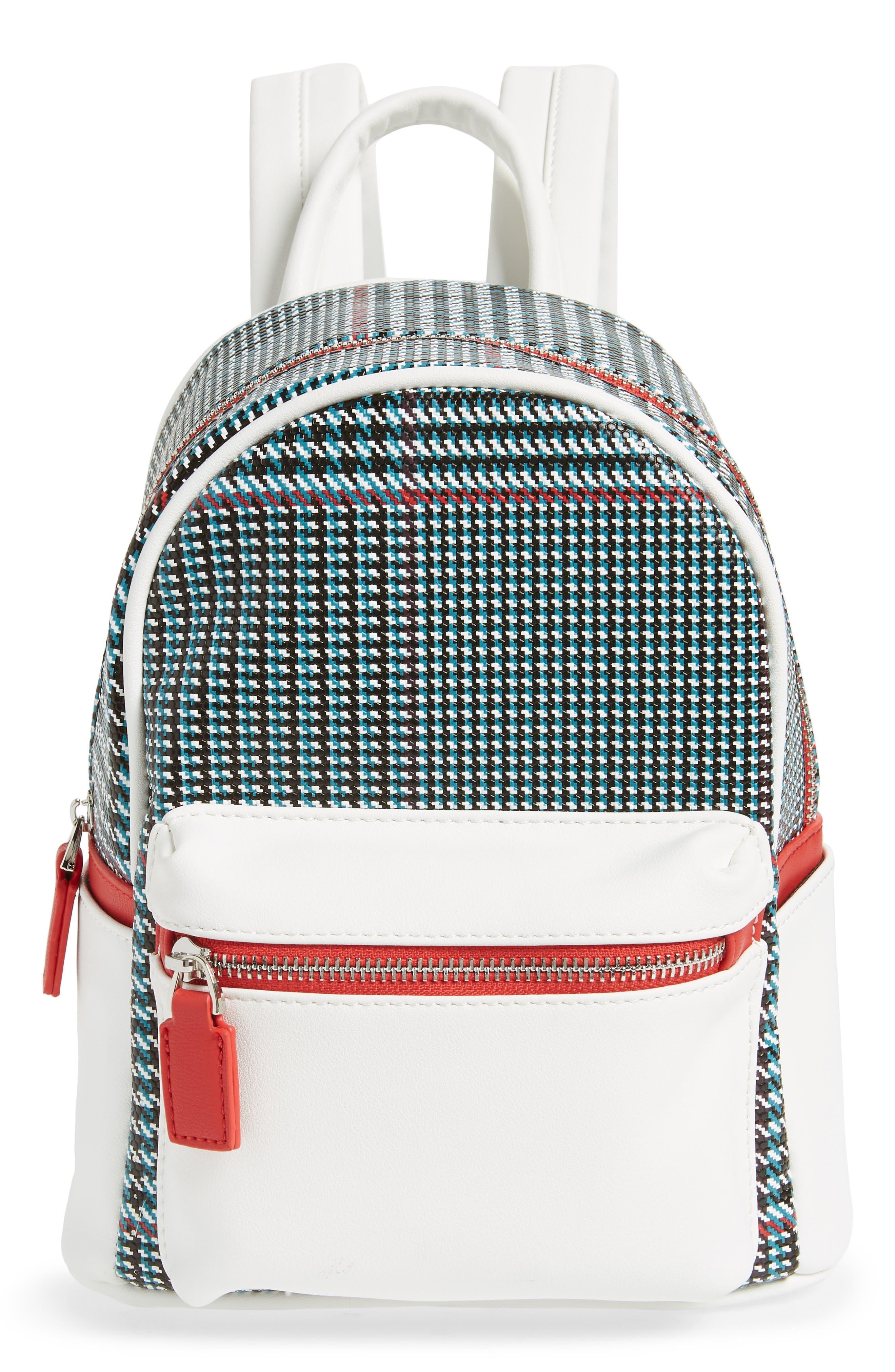 Woven Mini Backpack,                         Main,                         color, BLUE MULTI
