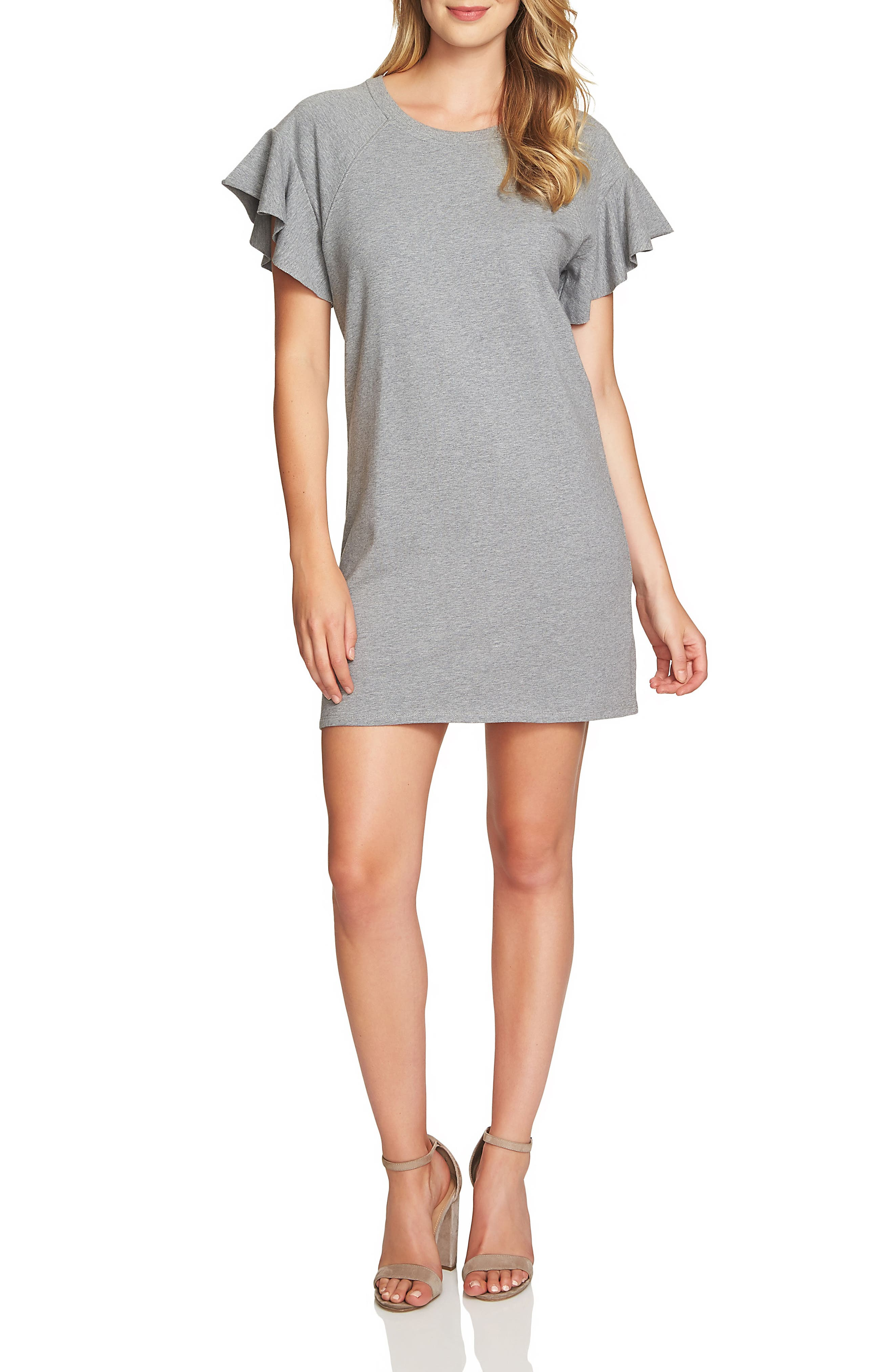 French Terry T-Shirt Dress,                         Main,                         color,