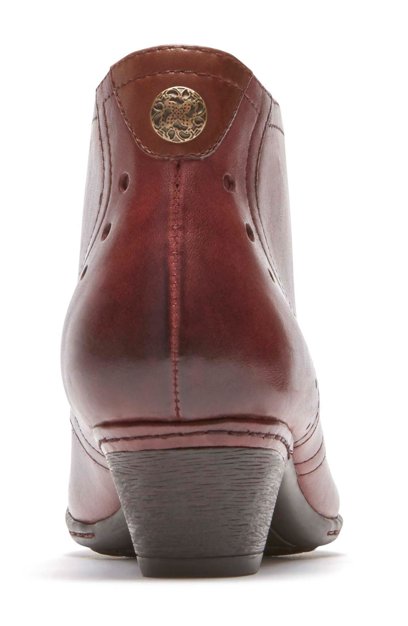 Aria Leather Boot,                             Alternate thumbnail 8, color,                             MERLOT LEATHER
