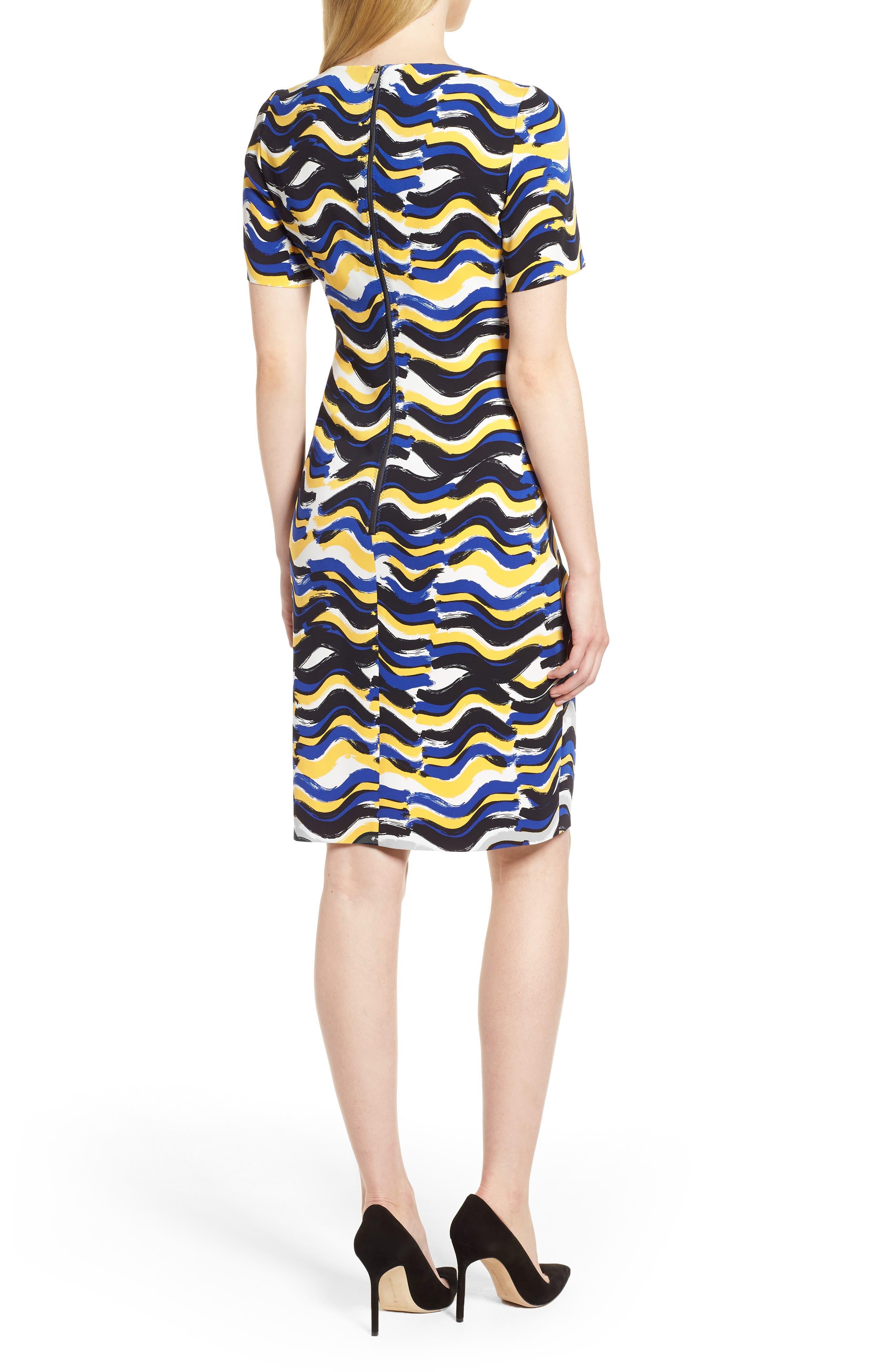 BOSS,                             Dashiba Color Waves Dress,                             Alternate thumbnail 2, color,                             782